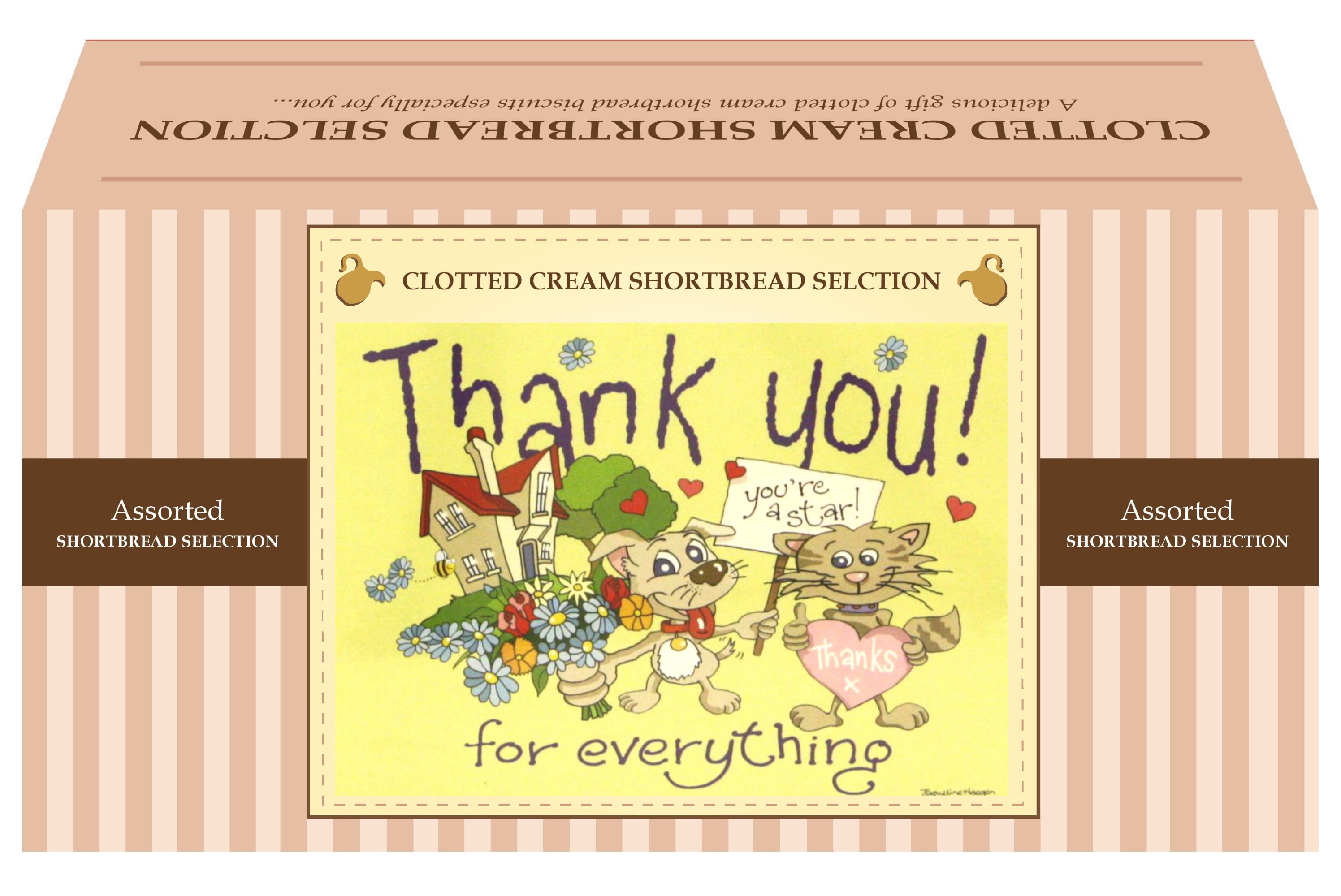 "600g Biscuit Selection ""Thank You"" Postcard Gift Box"