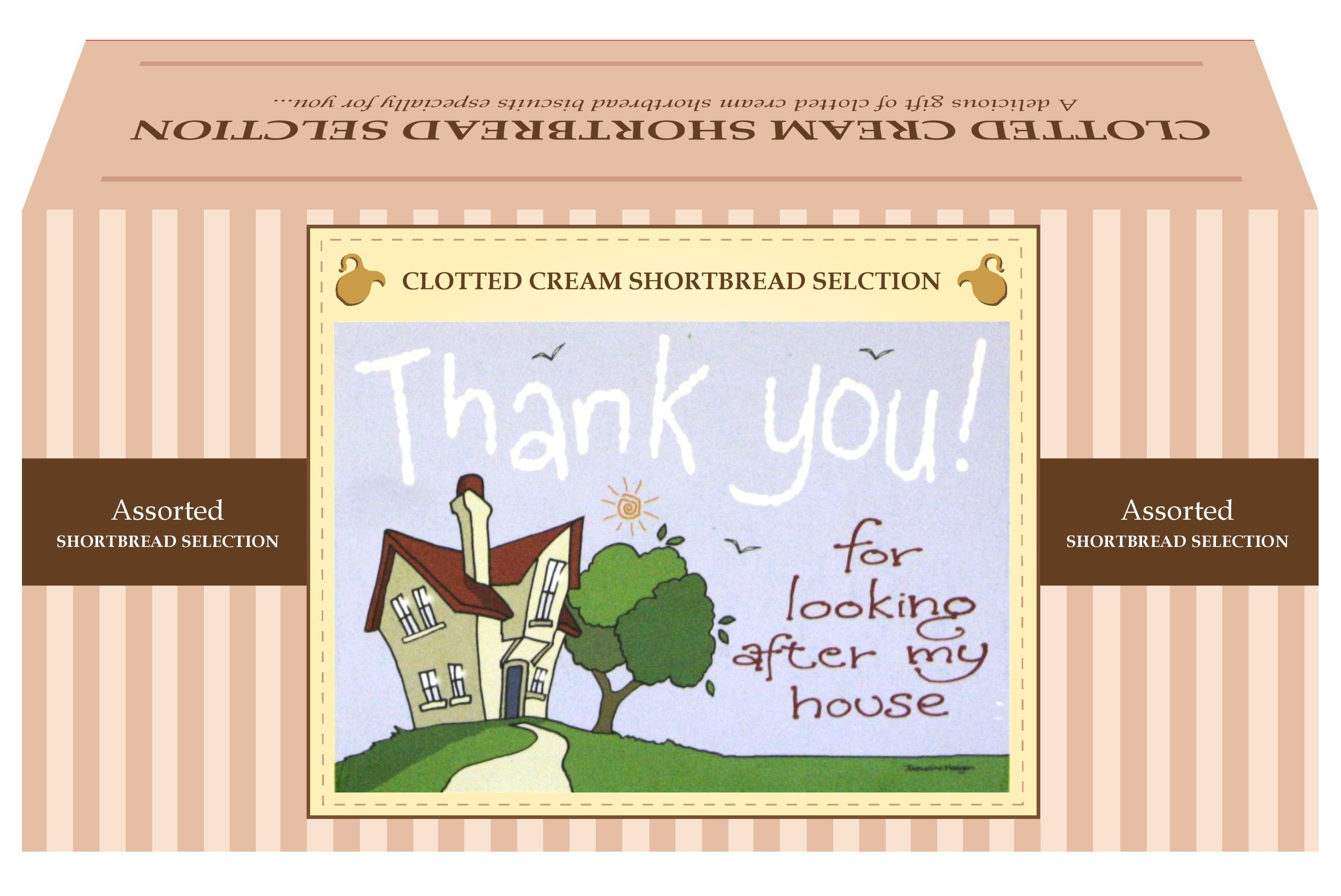 "600g Biscuit Selection ""Home"" Postcard Gift Box"