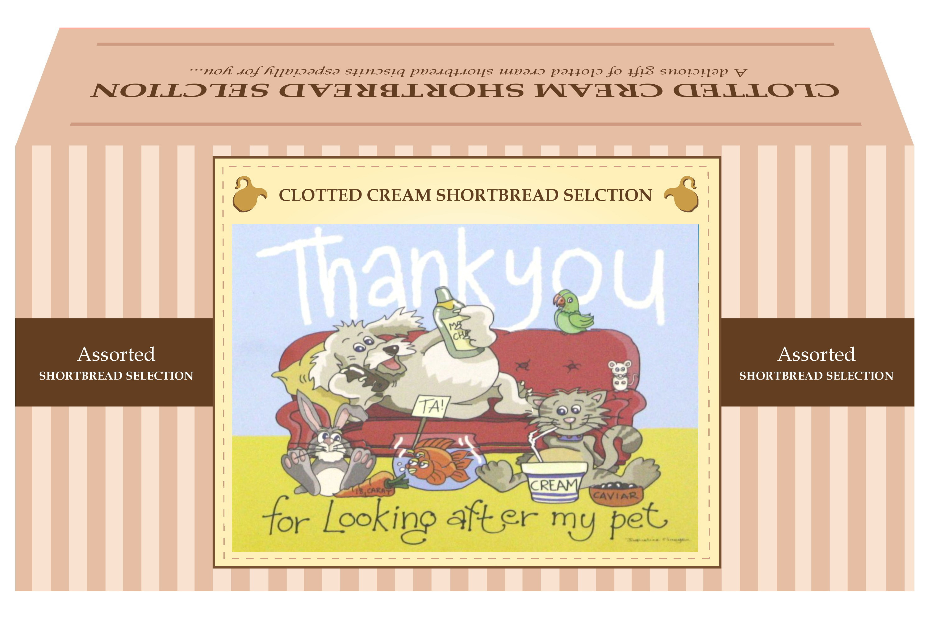 "600g Biscuit Selection ""Pet"" Postcard Gift Box"