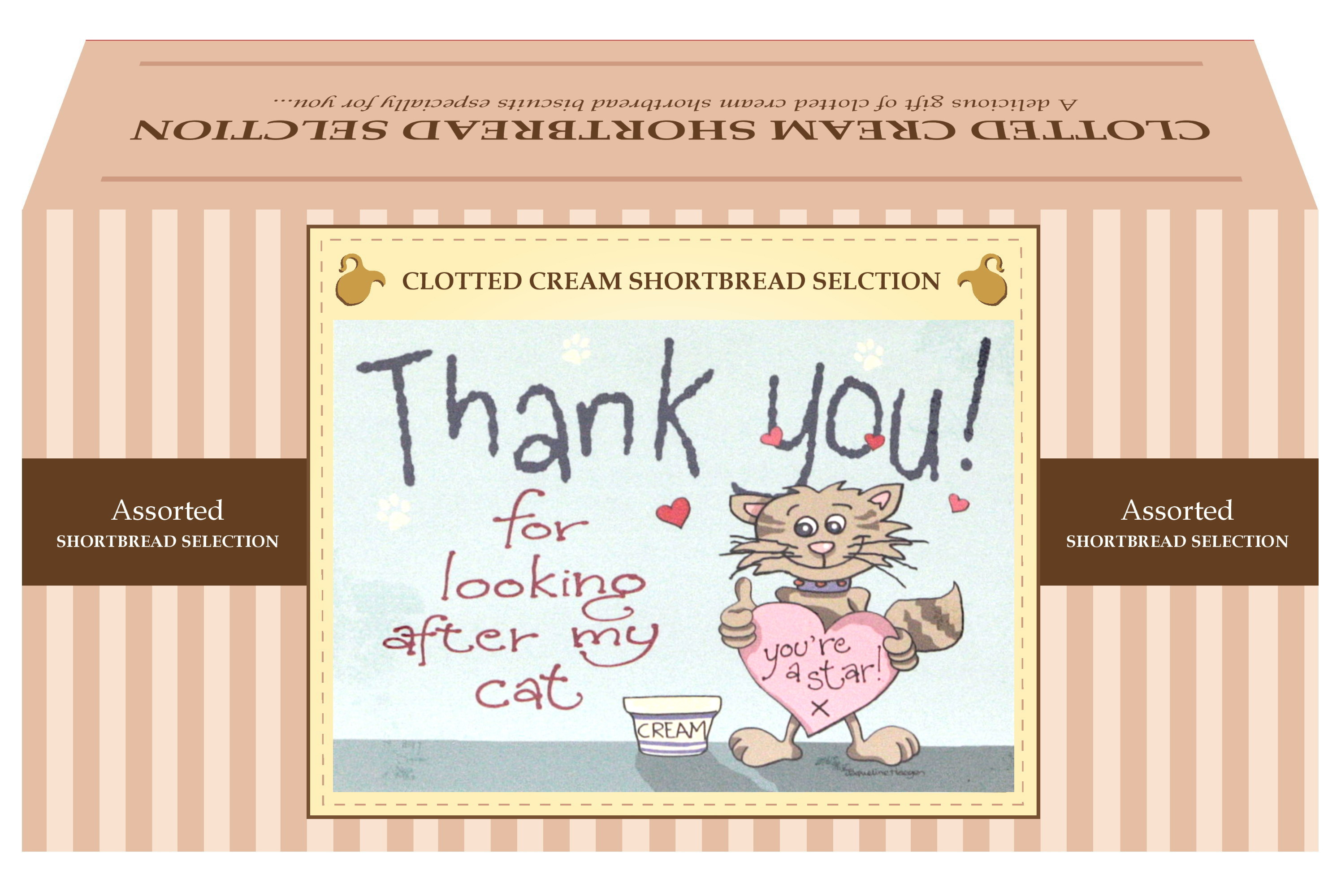 "600g Biscuit Selection ""Cat"" Postcard Gift Box"