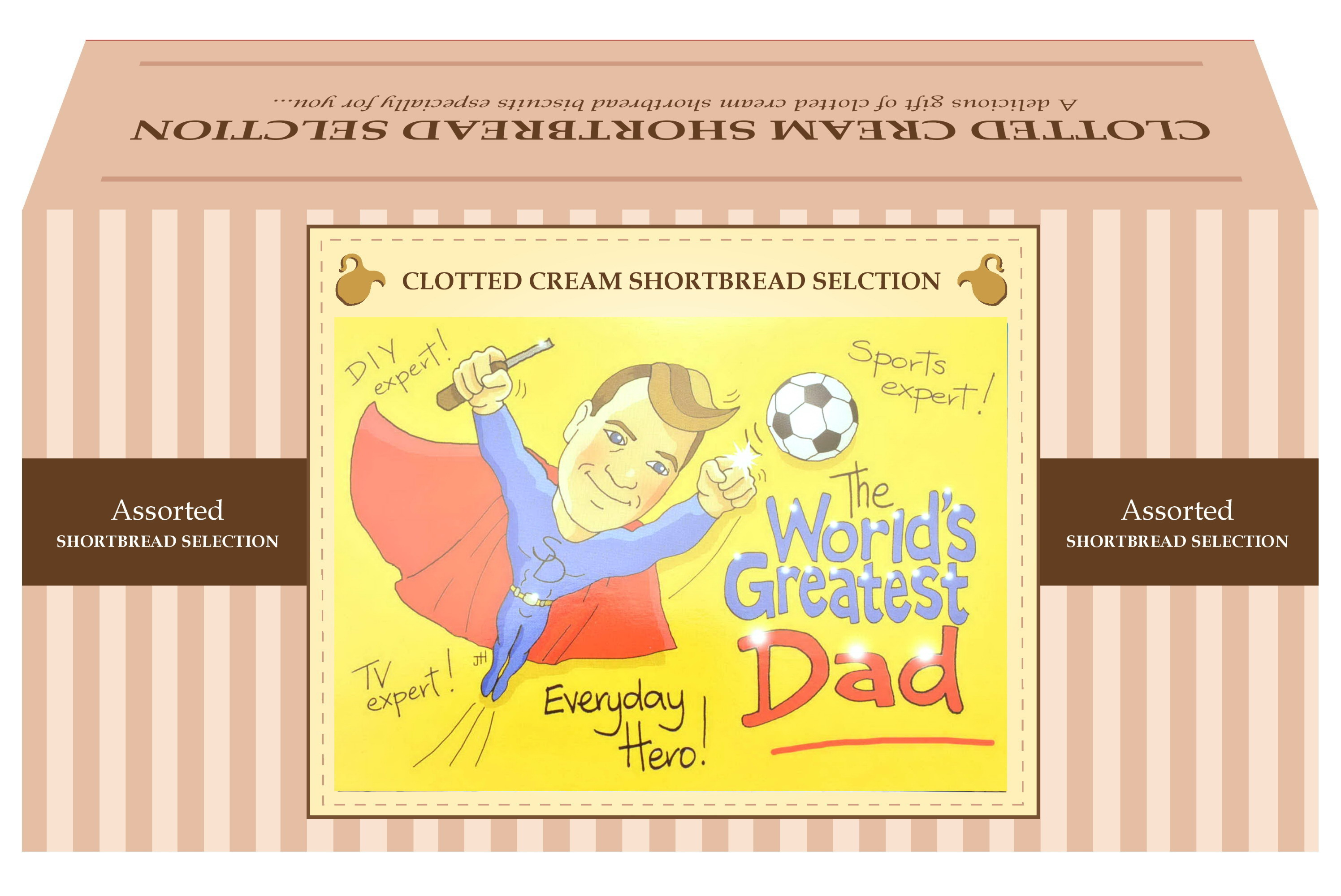 "600g Biscuit Selection ""Dad"" Postcard Gift Box"