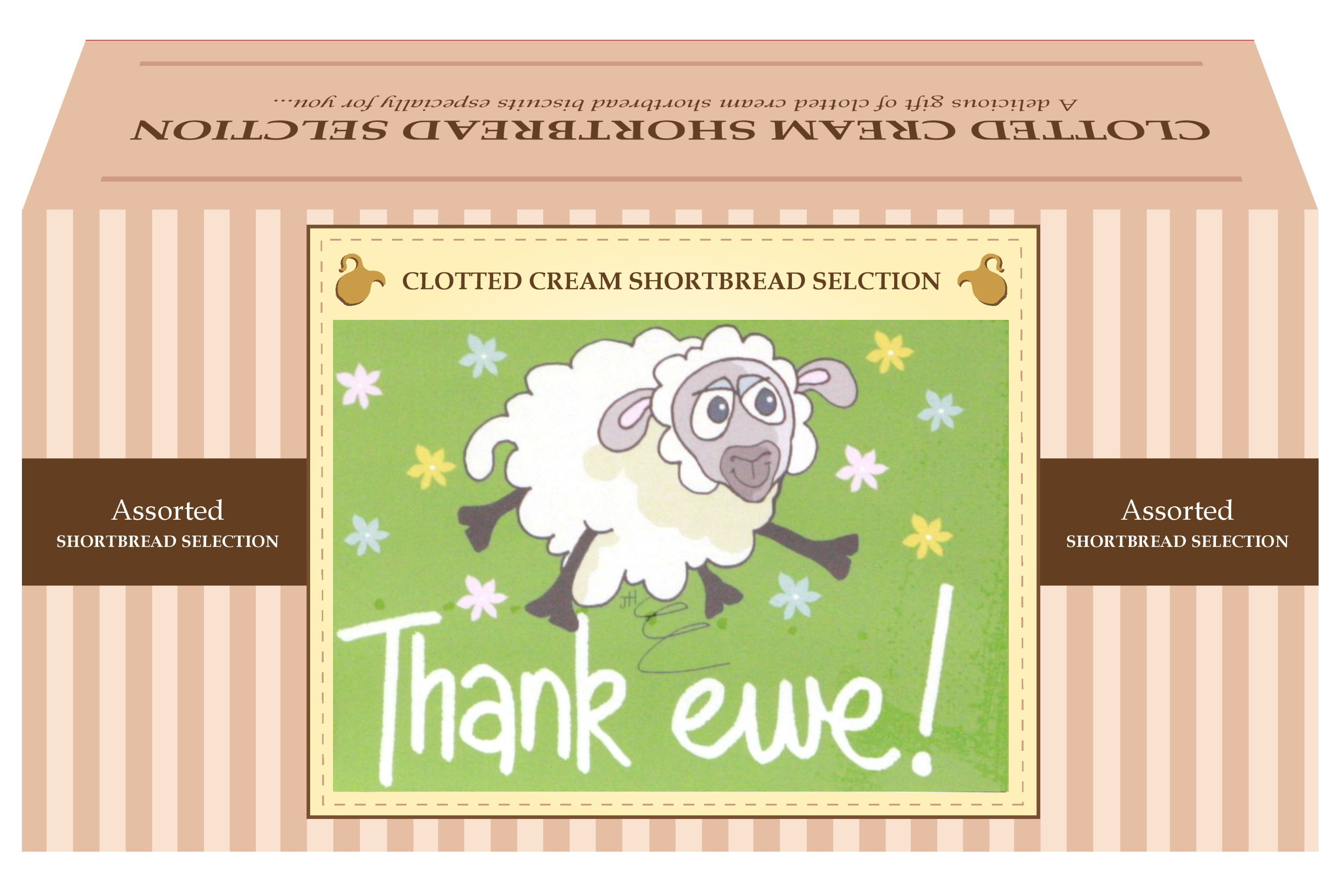 "600g Biscuit Selection ""Thank Ewe"" Postcard Gift Box"