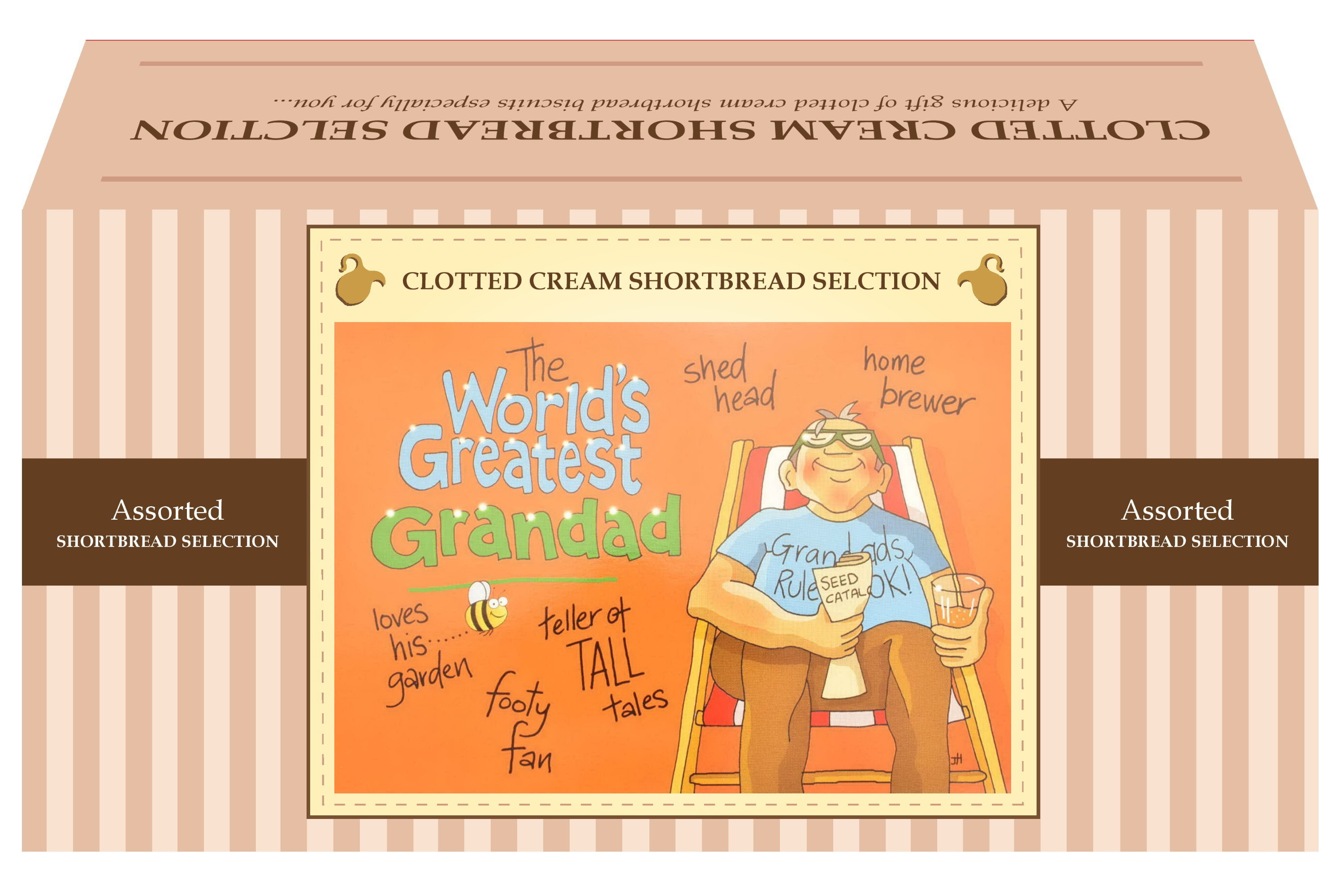 "600g Biscuit Selection ""Greatest Grandad"" Postcard G/B"
