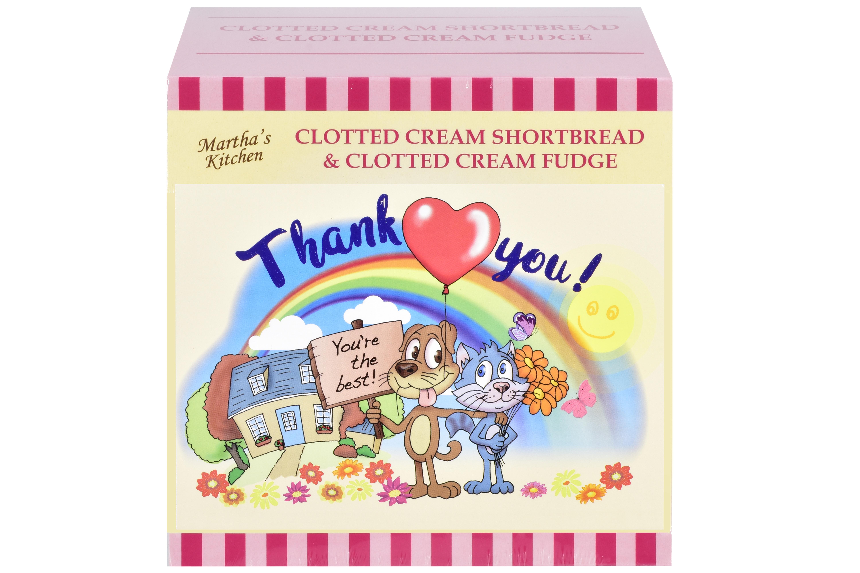 """250g C/C Shortbread & C/C Fudge """"Thank You"""" P/C Gift Bx"""