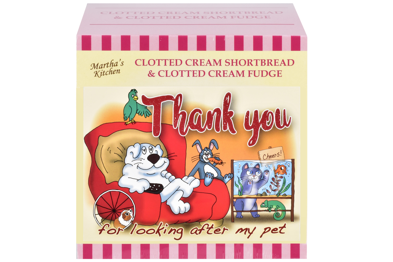 """250g C/C Shortbread & C/C Fudge """"Pet"""" Postcard Gift Box"""