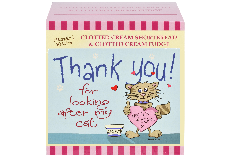 """250g C/C Shortbread & C/C Fudge """"Cat"""" Postcard Gift Box"""