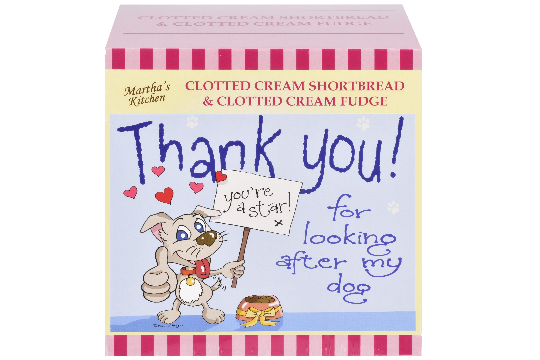 "250g C/C Shortbread & C/C Fudge ""Dog"" Postcard Gift Box"