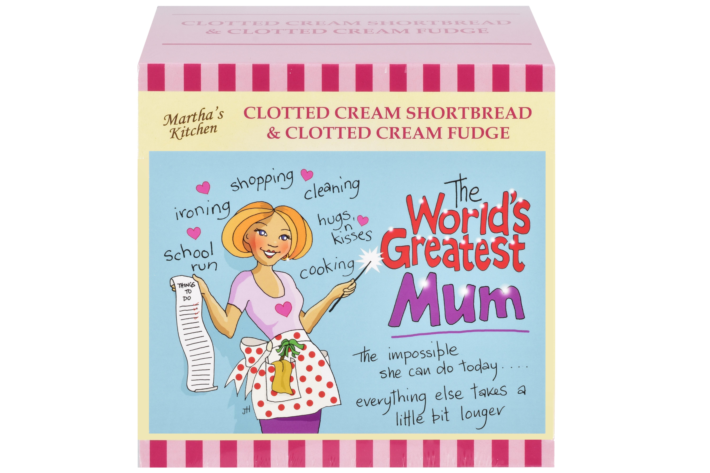 """250g C/C Shortbread & C/C Fudge """"Mum"""" Postcard Gift Box"""