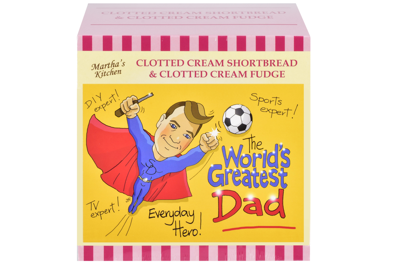 """250g C/C Shortbread & C/C Fudge """"Dad"""" Postcard Gift Box"""