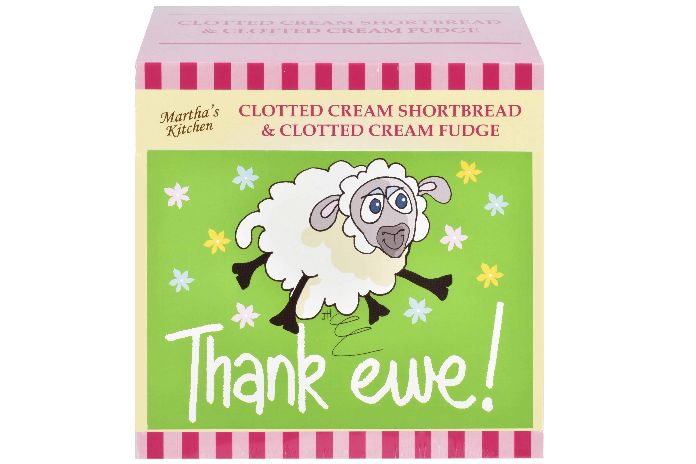 "250g C/C Shortbread & C/C Fudge ""Thank Ewe"" P/Card G/B"