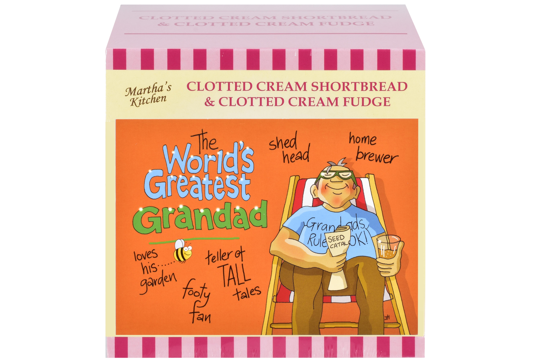 """250g C/C Shortbread & C/C Fudge """"Greatest Grandad"""" G/Bx"""
