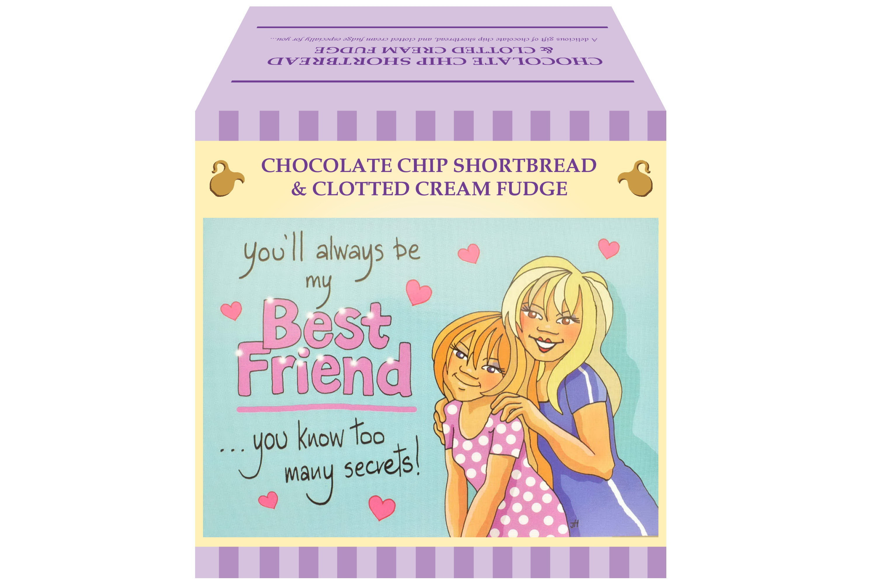 "250g Choc C/C Shortbread & C/C Fudge ""Best Friend"" G/Bx"