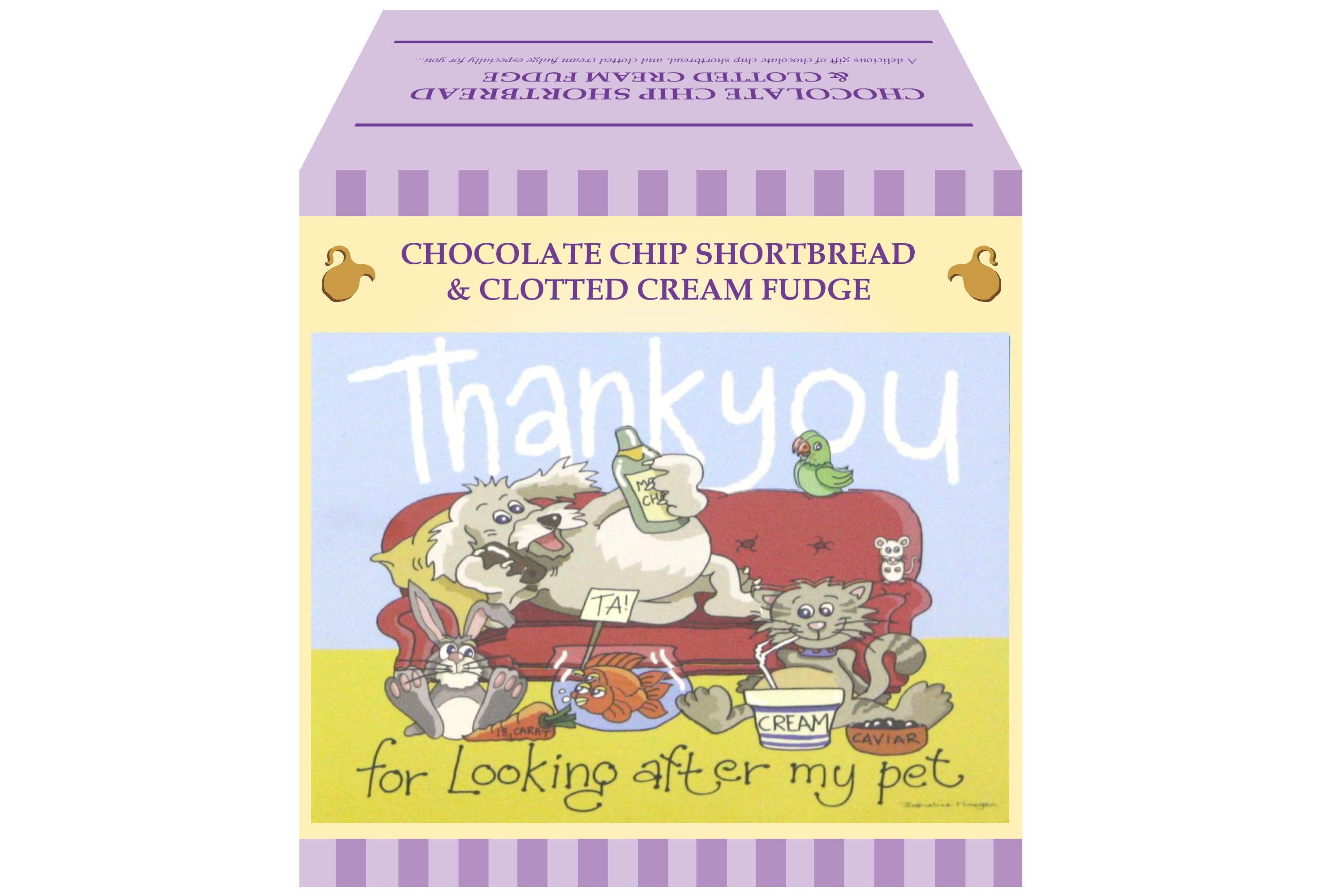 """250g Choc C/C Shortbread & C/C Fudge """"Pet"""" Gift Box"""