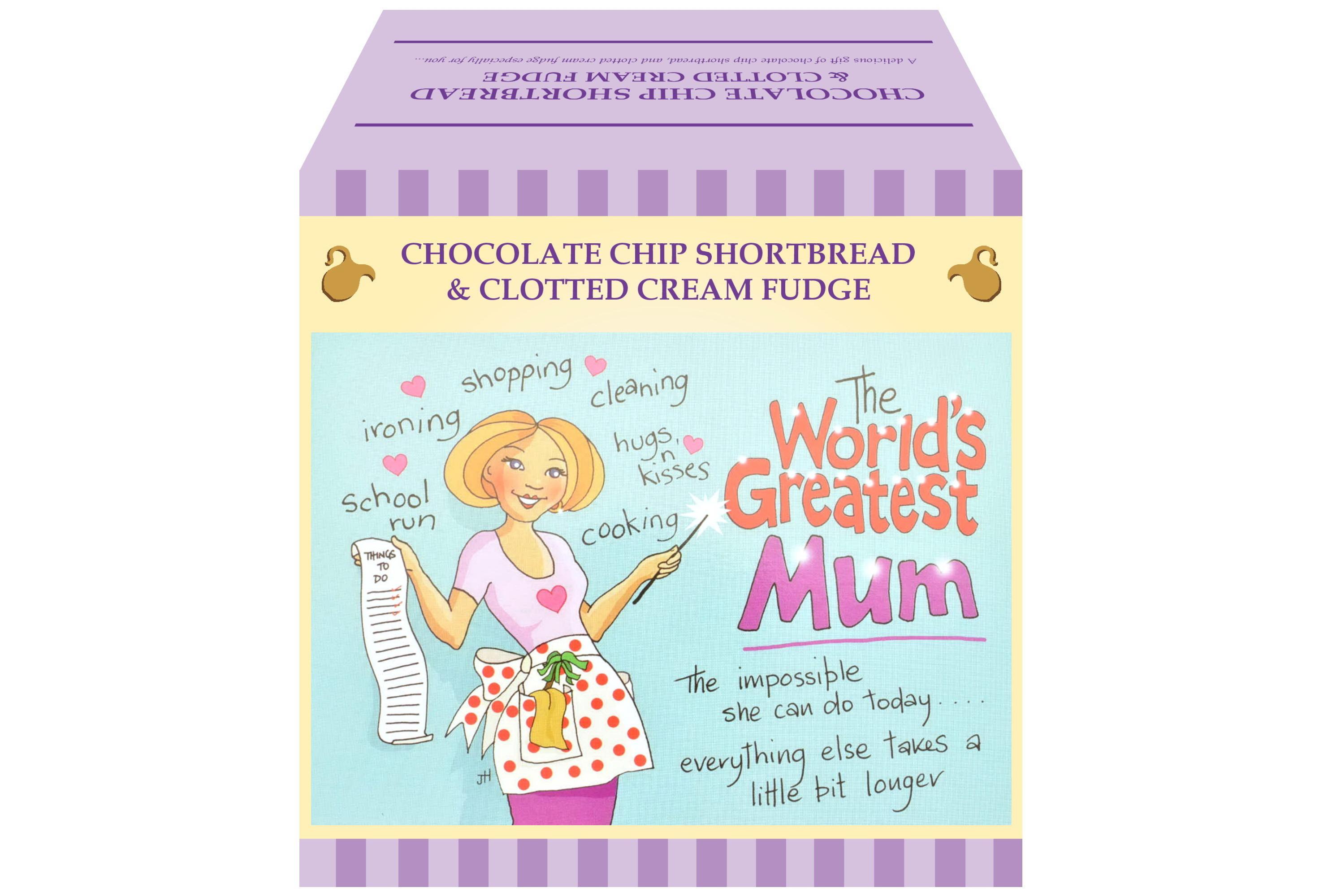 """250g Choc C/C Shortbread & C/C Fudge """"Mum"""" Gift Box"""