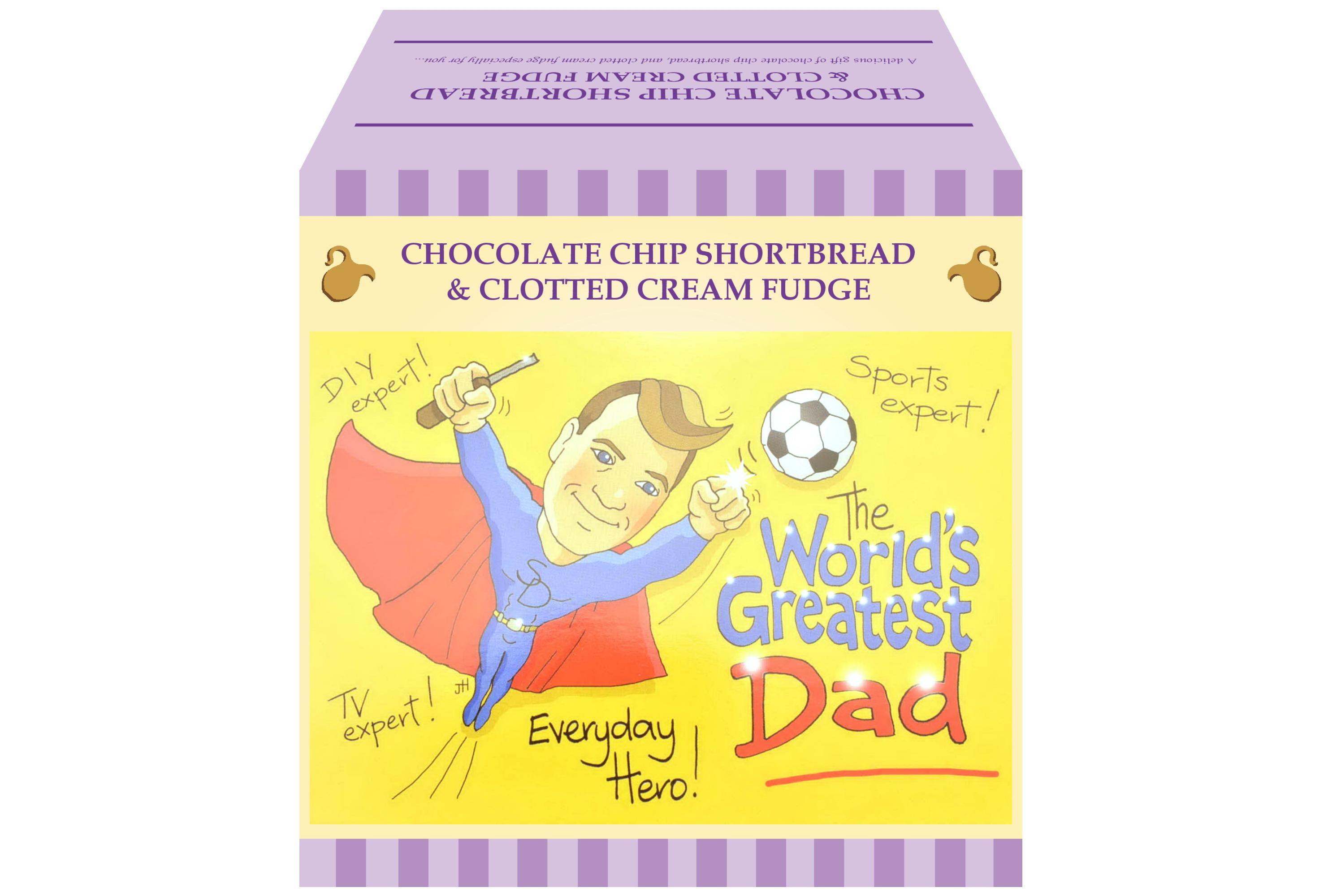 """250g Choc C/C Shortbread & C/C Fudge """"Dad"""" Gift Box"""