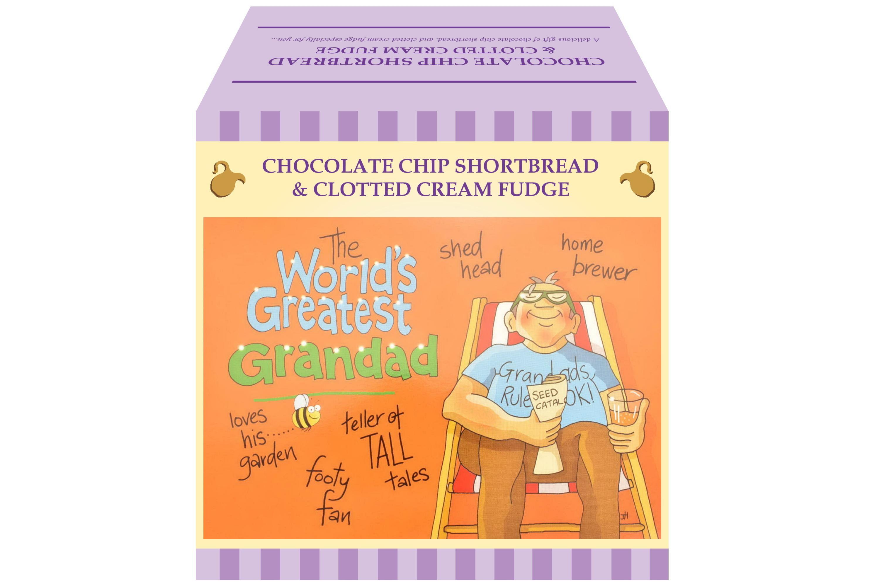 """250g Choc C/C Shortbread & C/C Fudge """"Greatest Grandad"""""""