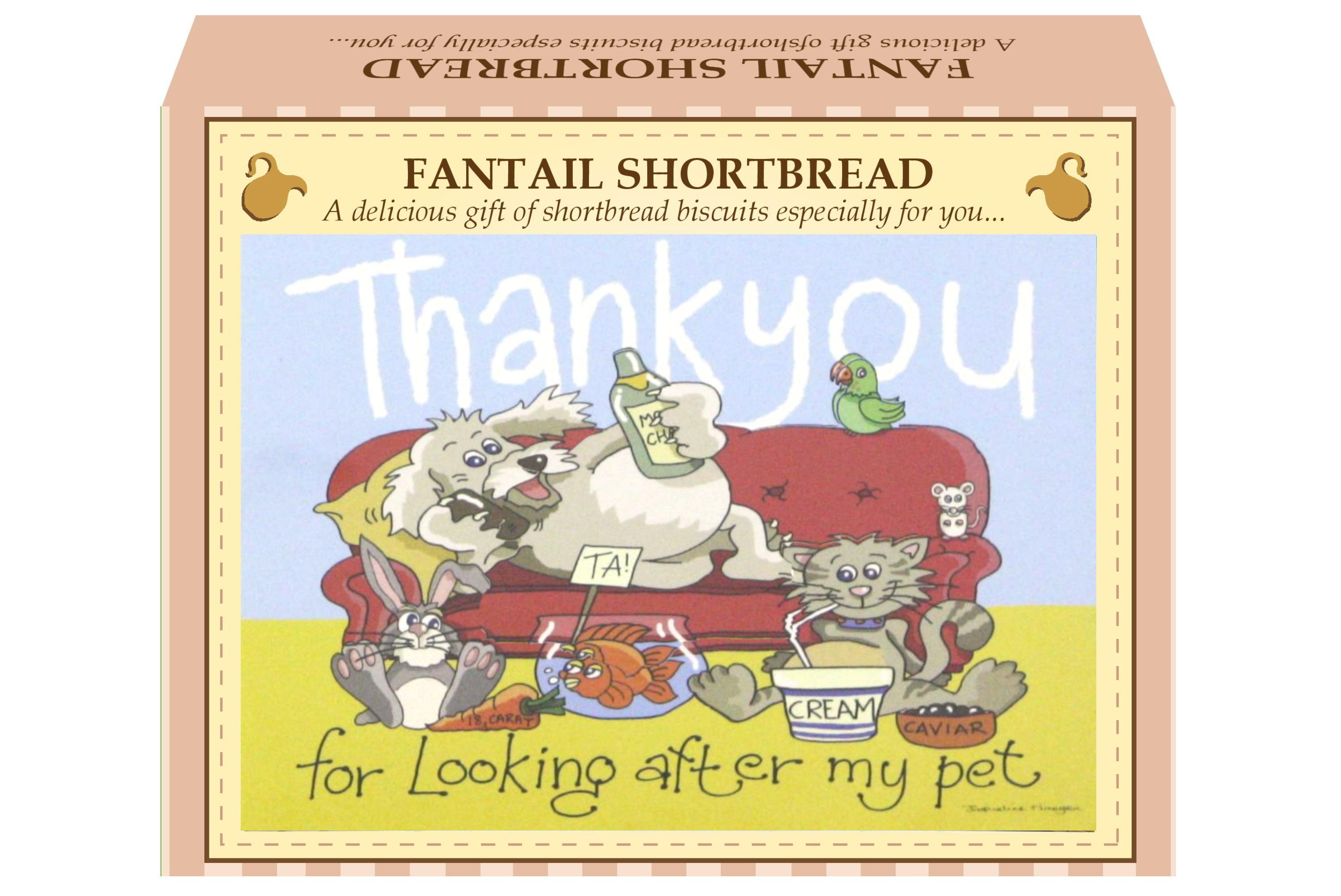 "125g Fantail Shortbread &  ""Pet"" Postcard Gift Box"