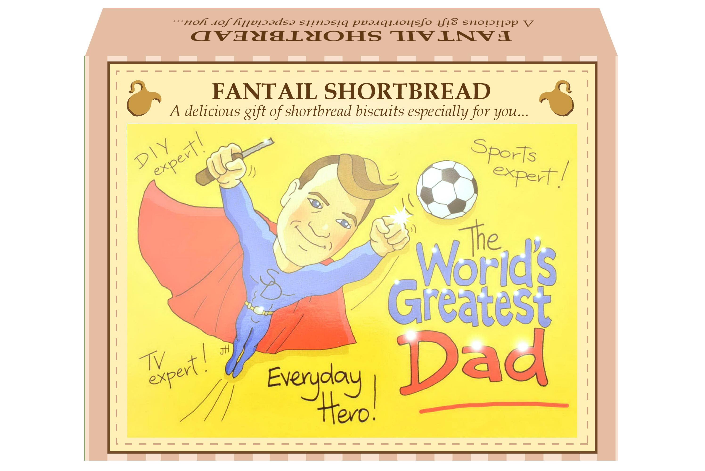 "125g Fantail Shortbread & ""Dad"" Postcard Gift Box"