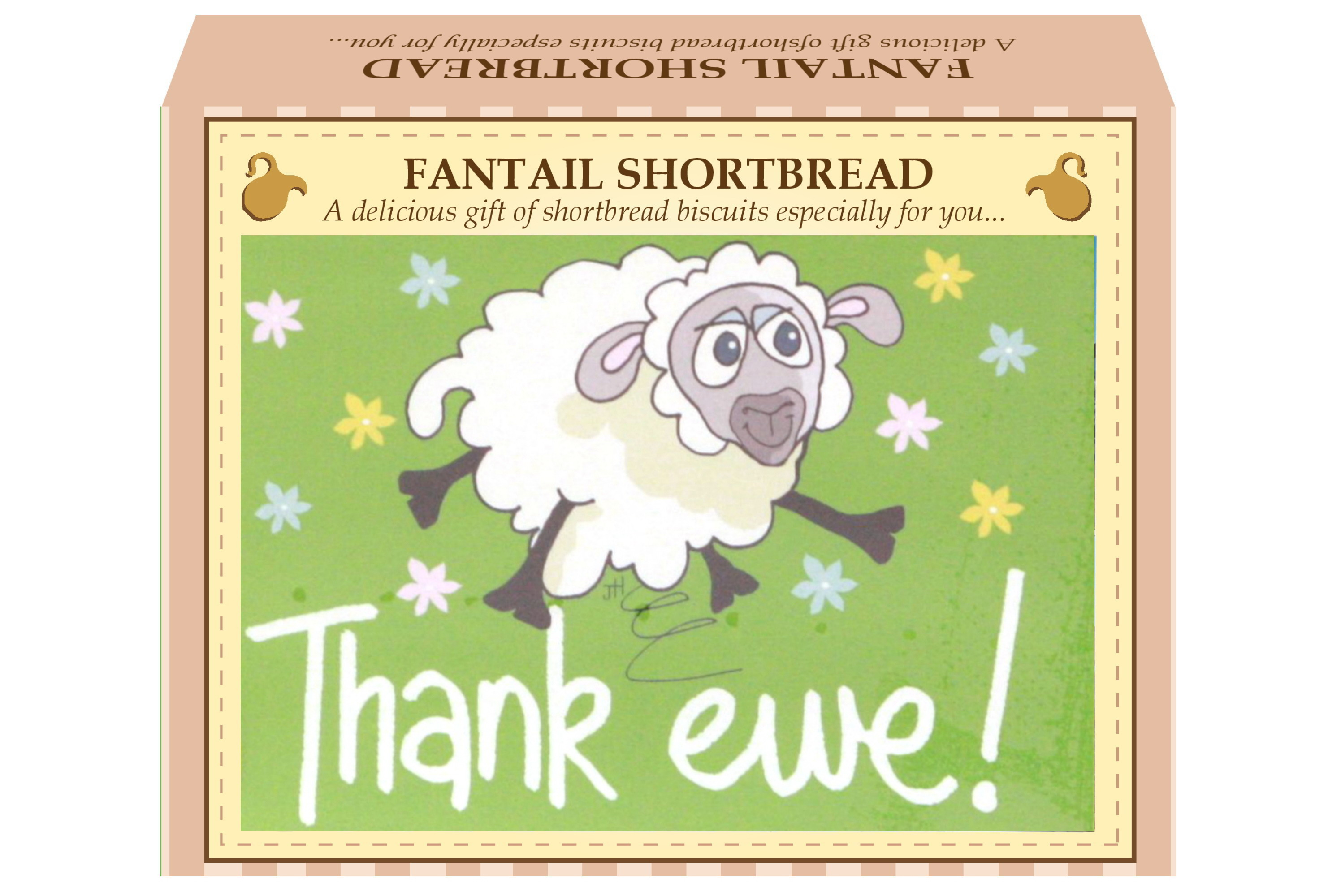 "125g Fantail Shortbread & ""Thank Ewe"" Gift Box"