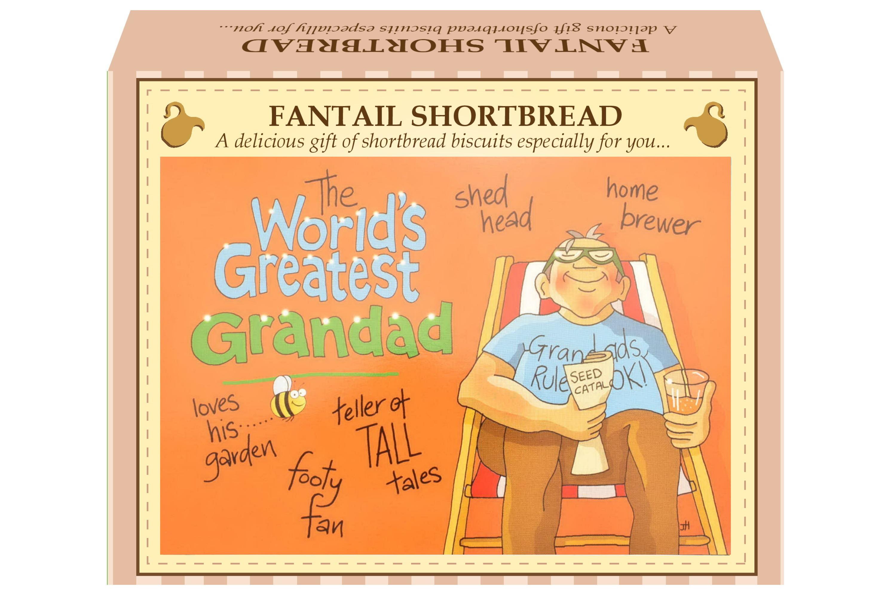 "125g Fantail Shortbread ""Greatest Grandad"" P/Card"