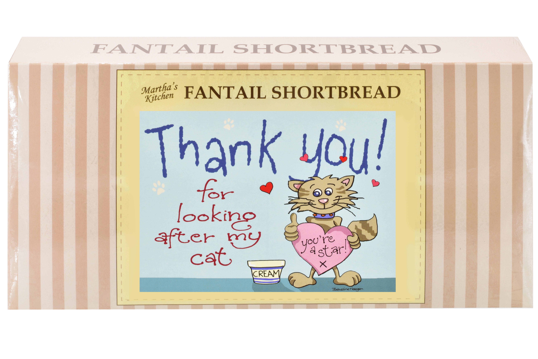"250g Fantail S/Bread & ""Cat"" Postcard Gift Box"