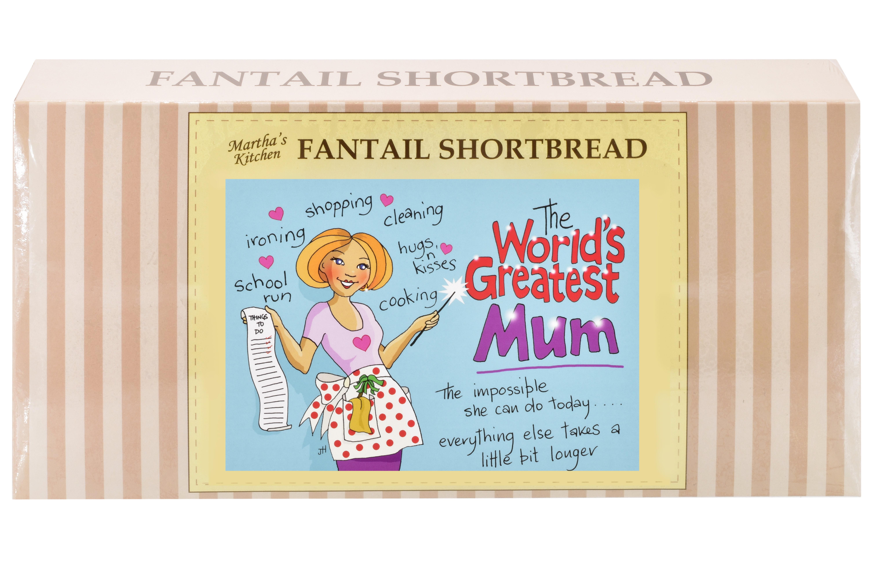 "250g Fantail Shortbread  ""Mum"" Postcard Gift Box"