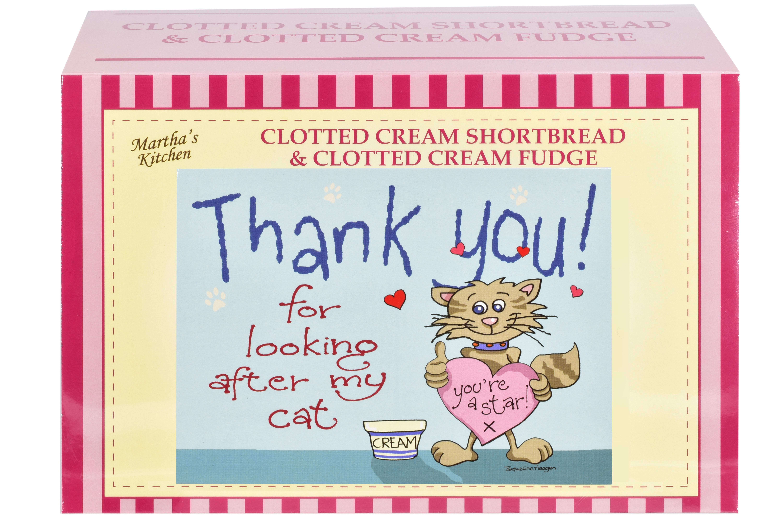 """400g C/C Shortbread & C/C Fudge """"Cat"""" Postcard G/Bx"""