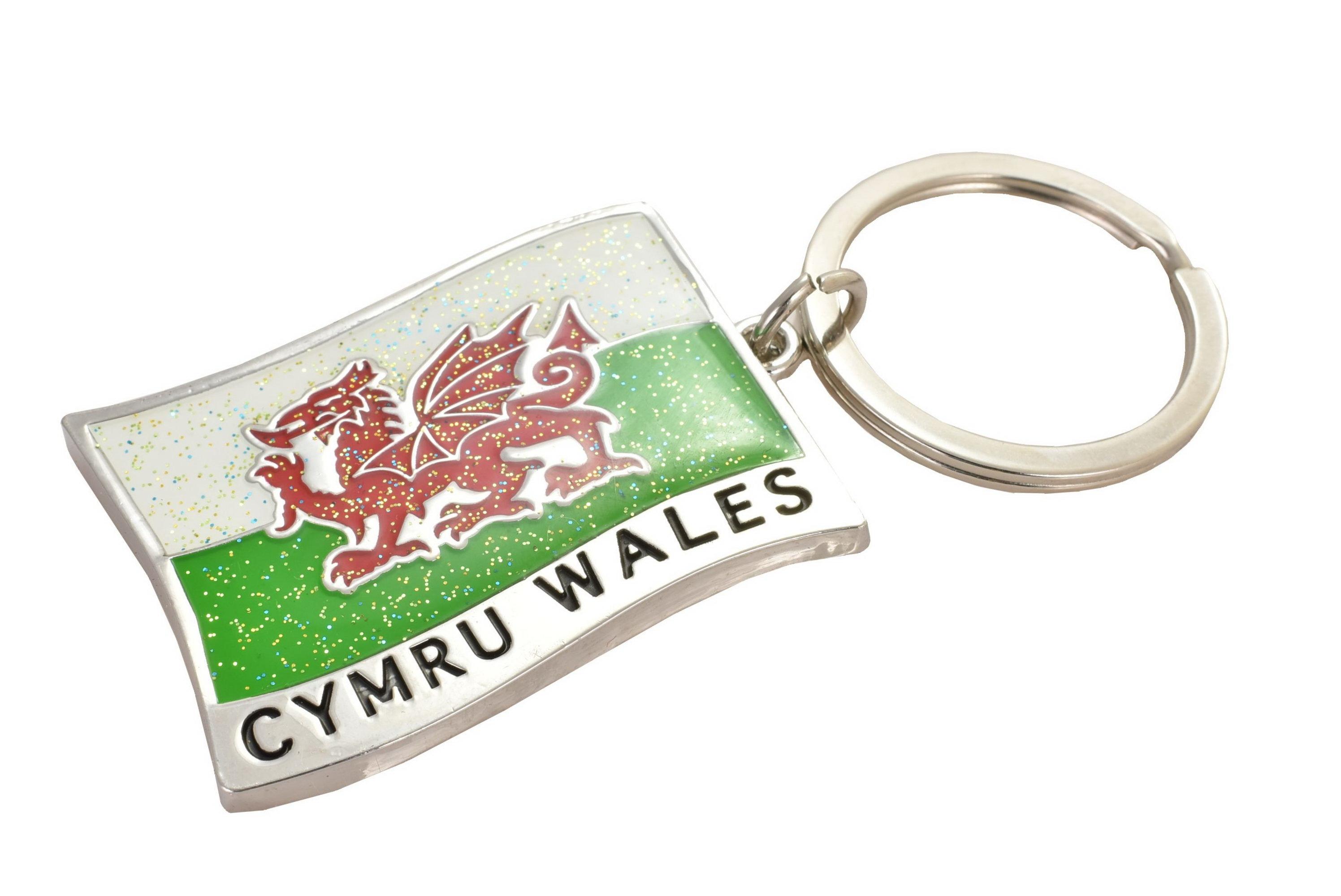 Metal Keyring Wales/Cymru Flag