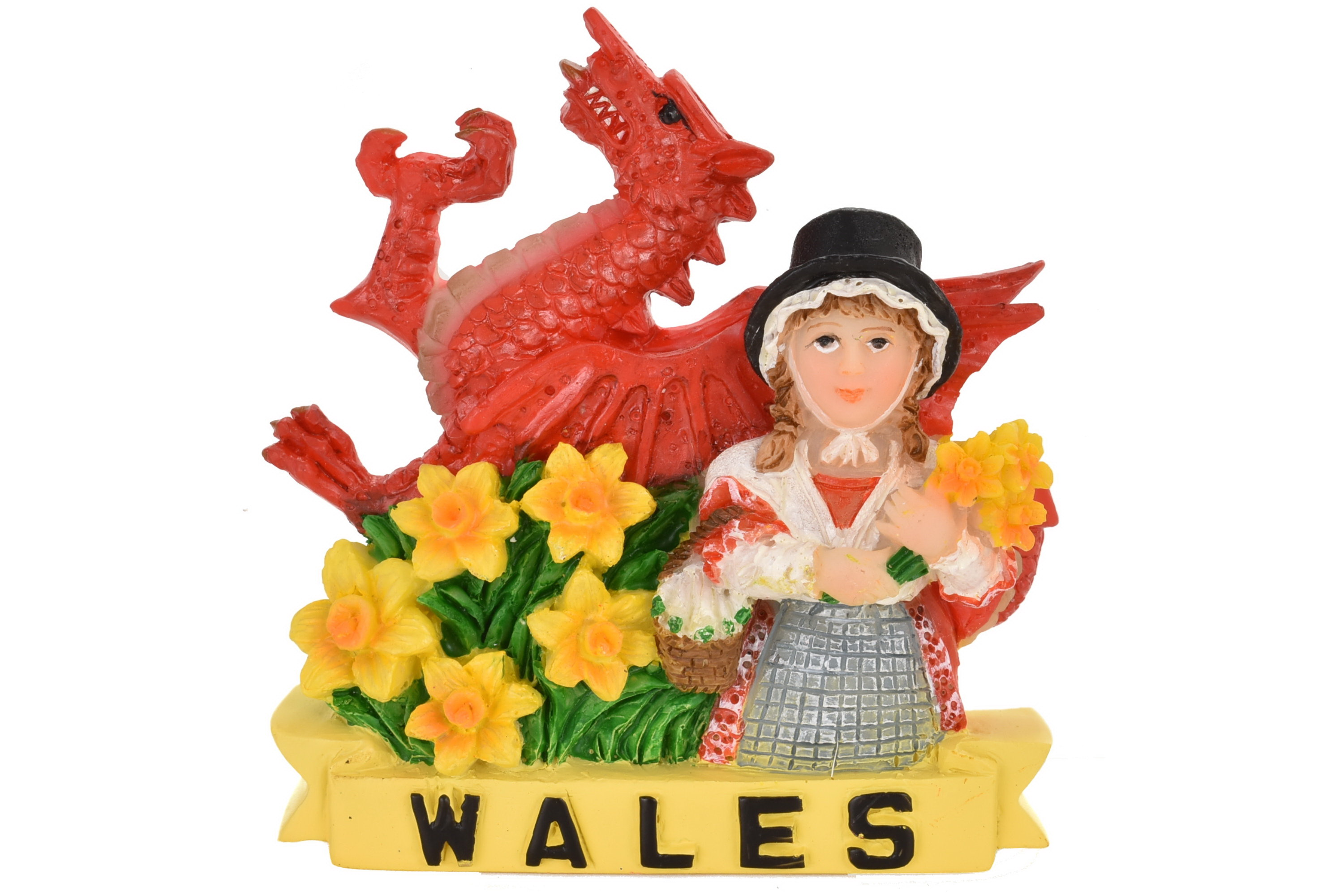 Wales Lady Resin Magnet