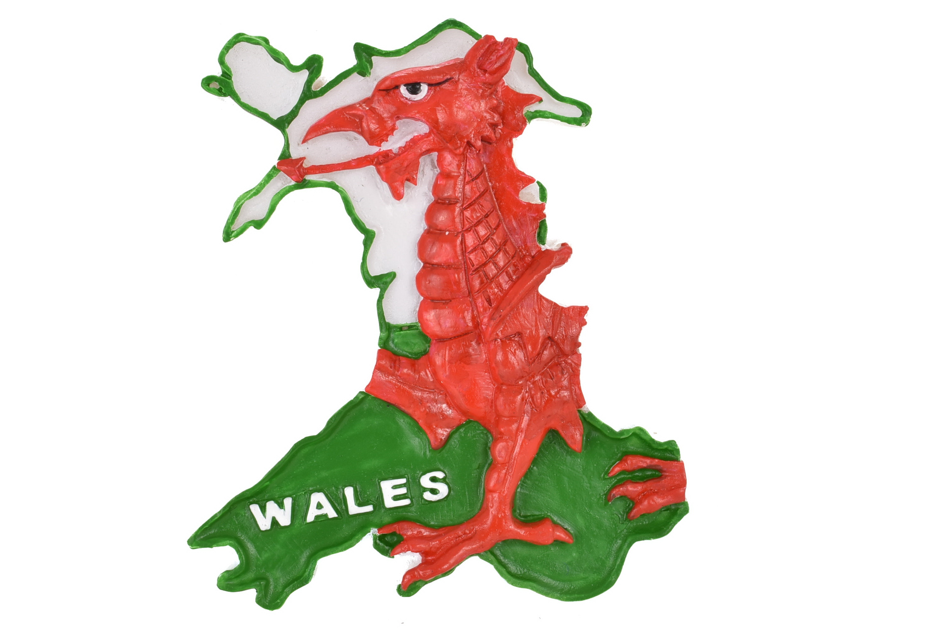 Wales Map Resin Magnet
