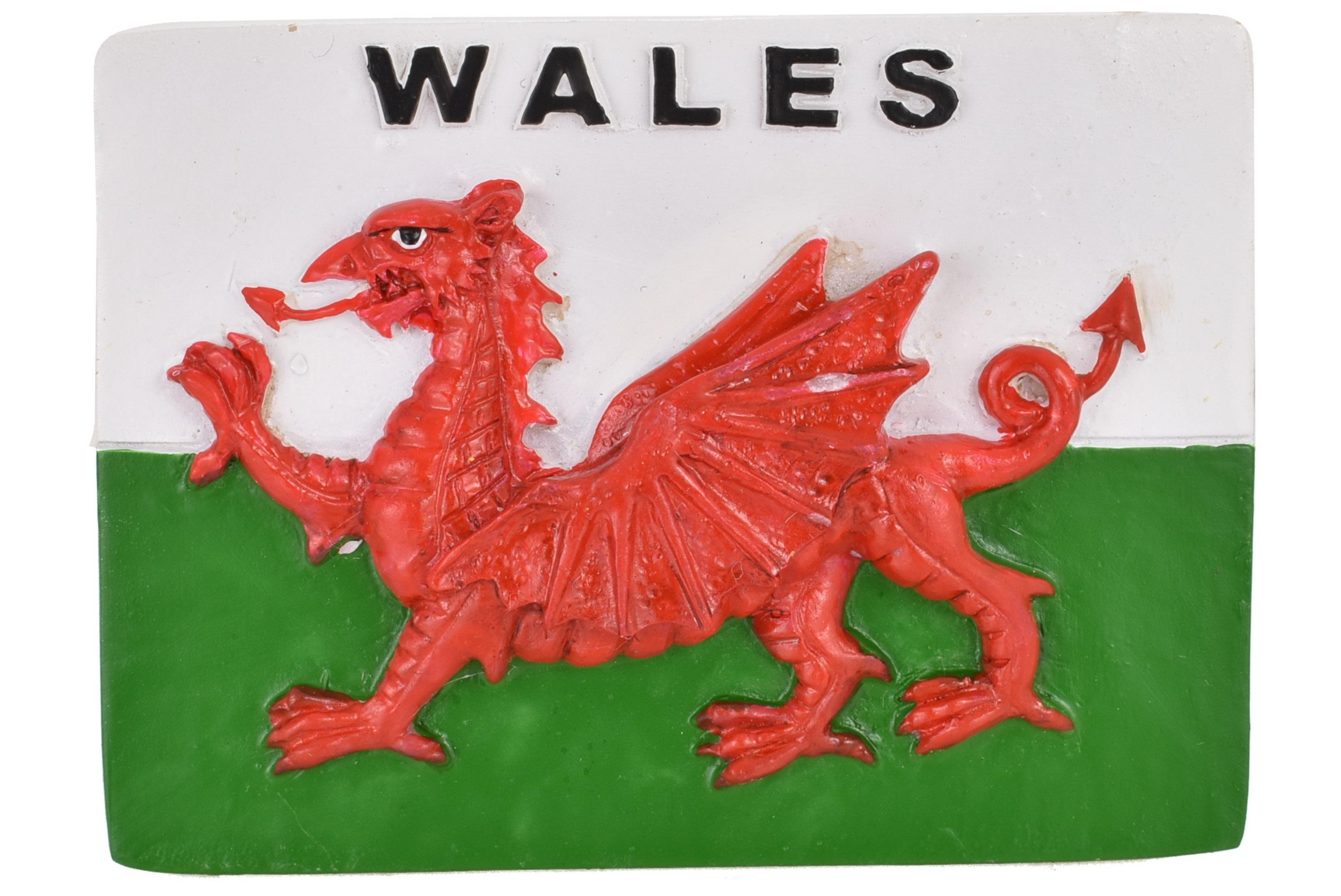 Wales Flag Resin Magnet