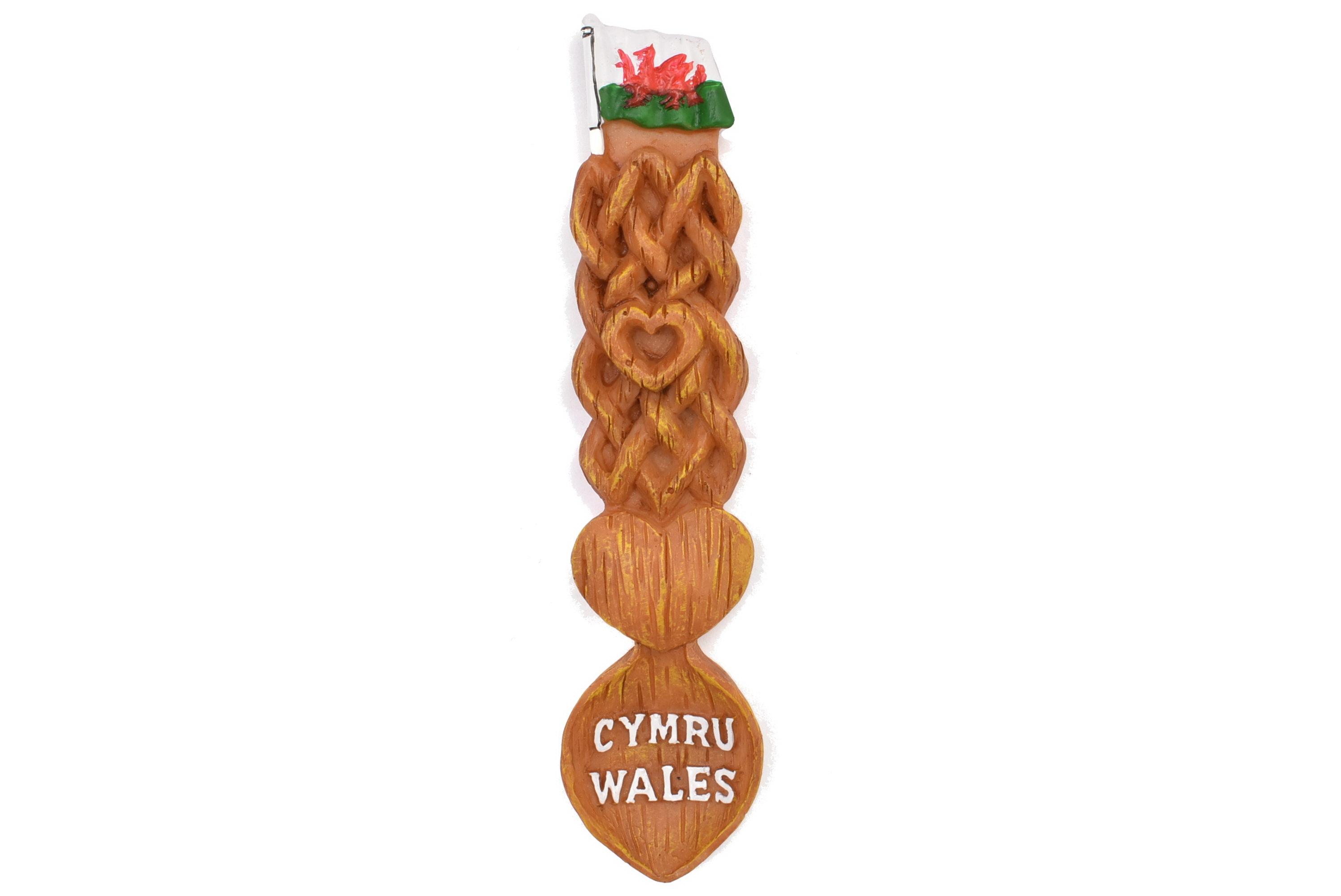 Wales Flag Lovespoon Resin Magnet