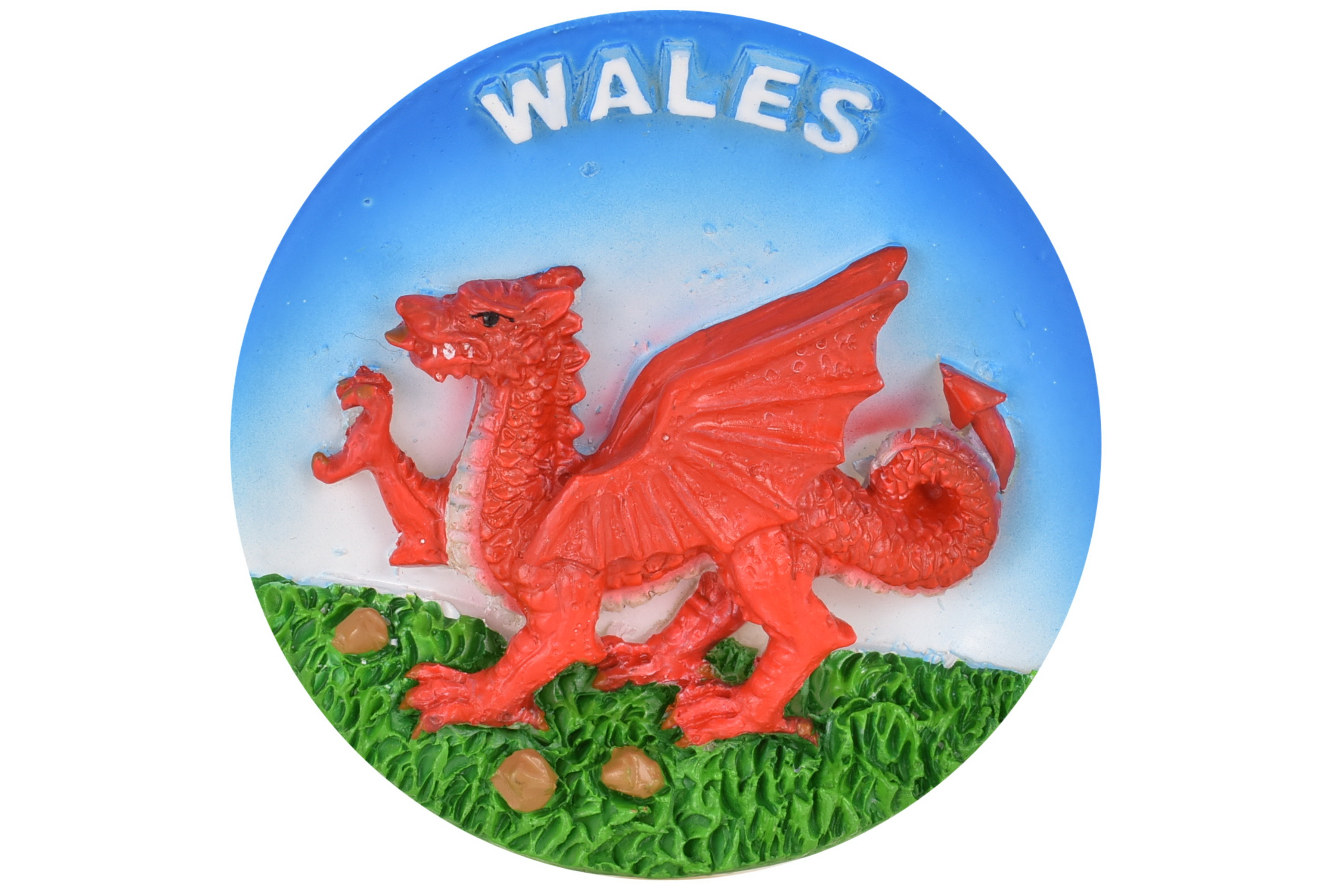 Wales Dragon Round Resin Magnet