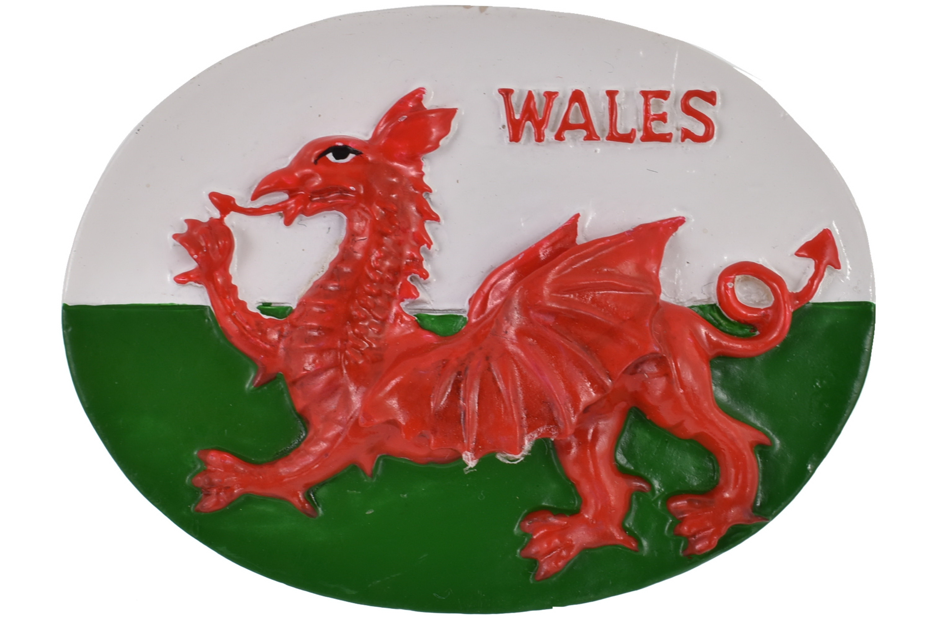 Wales Flag Oval Resin Magnet