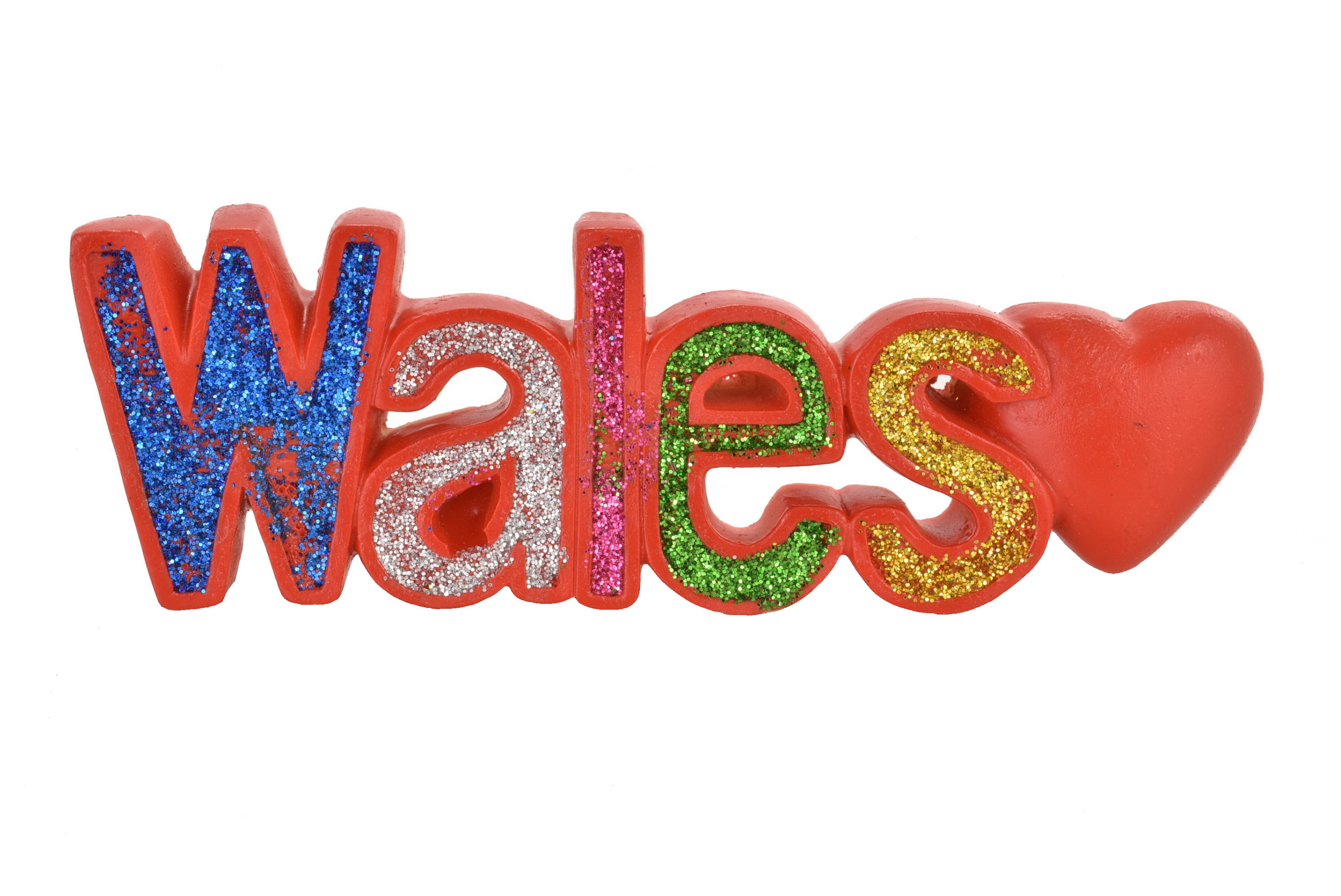 Wales Resin Magnet Glitter Letters