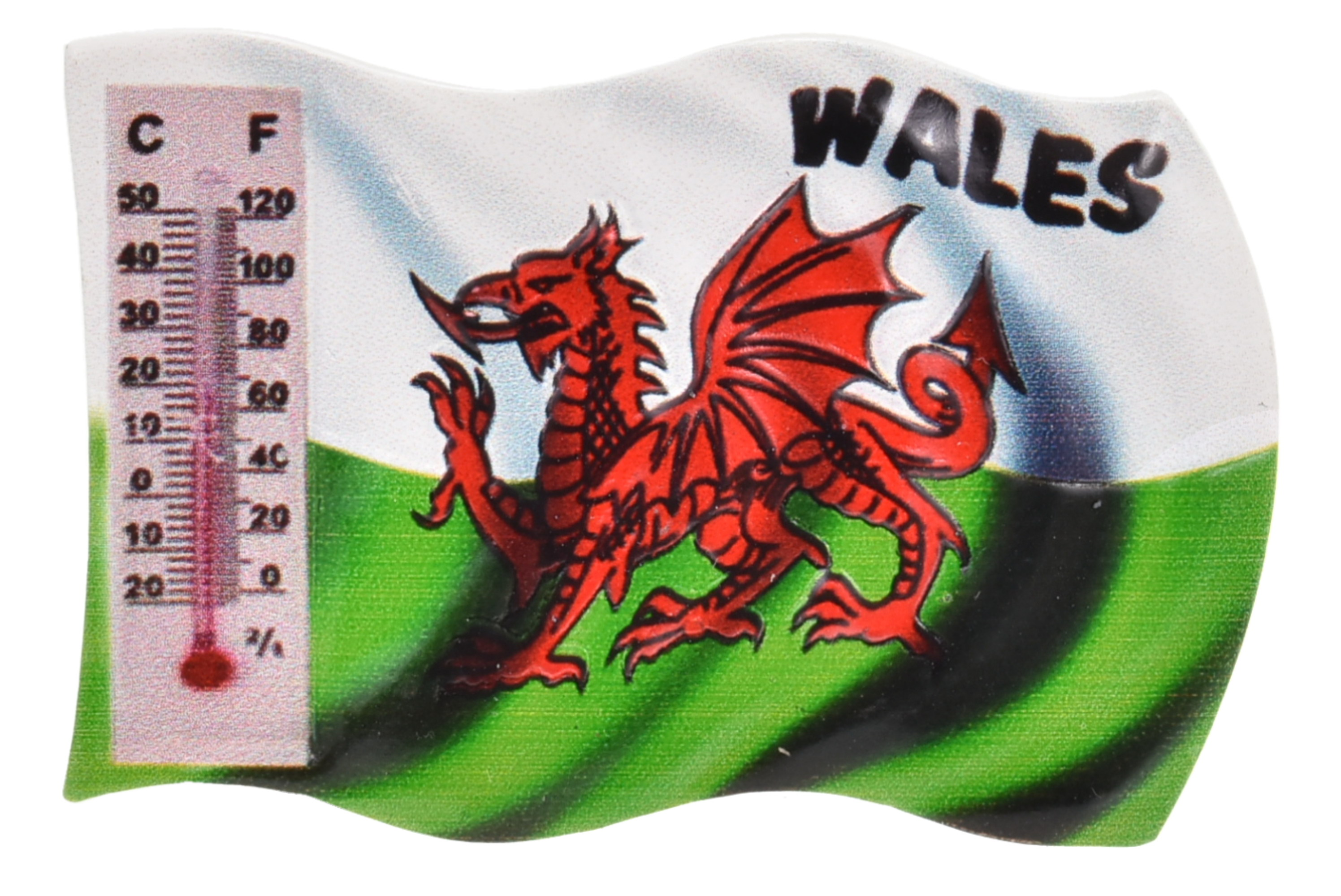 Wales Resin Magnet Flag Design With Thermometer