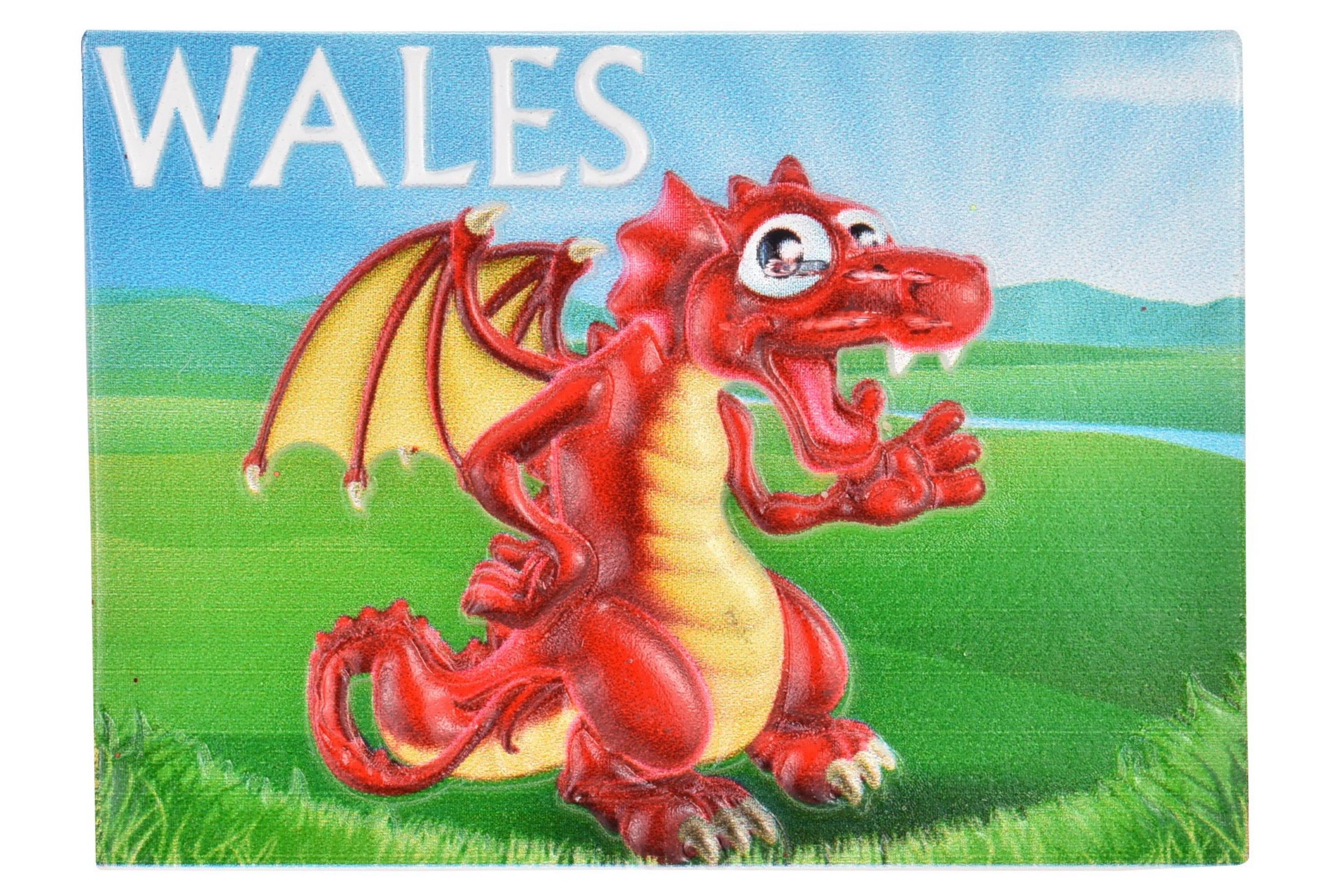 Wales Resin Magnet Comical Dragon Design Printed