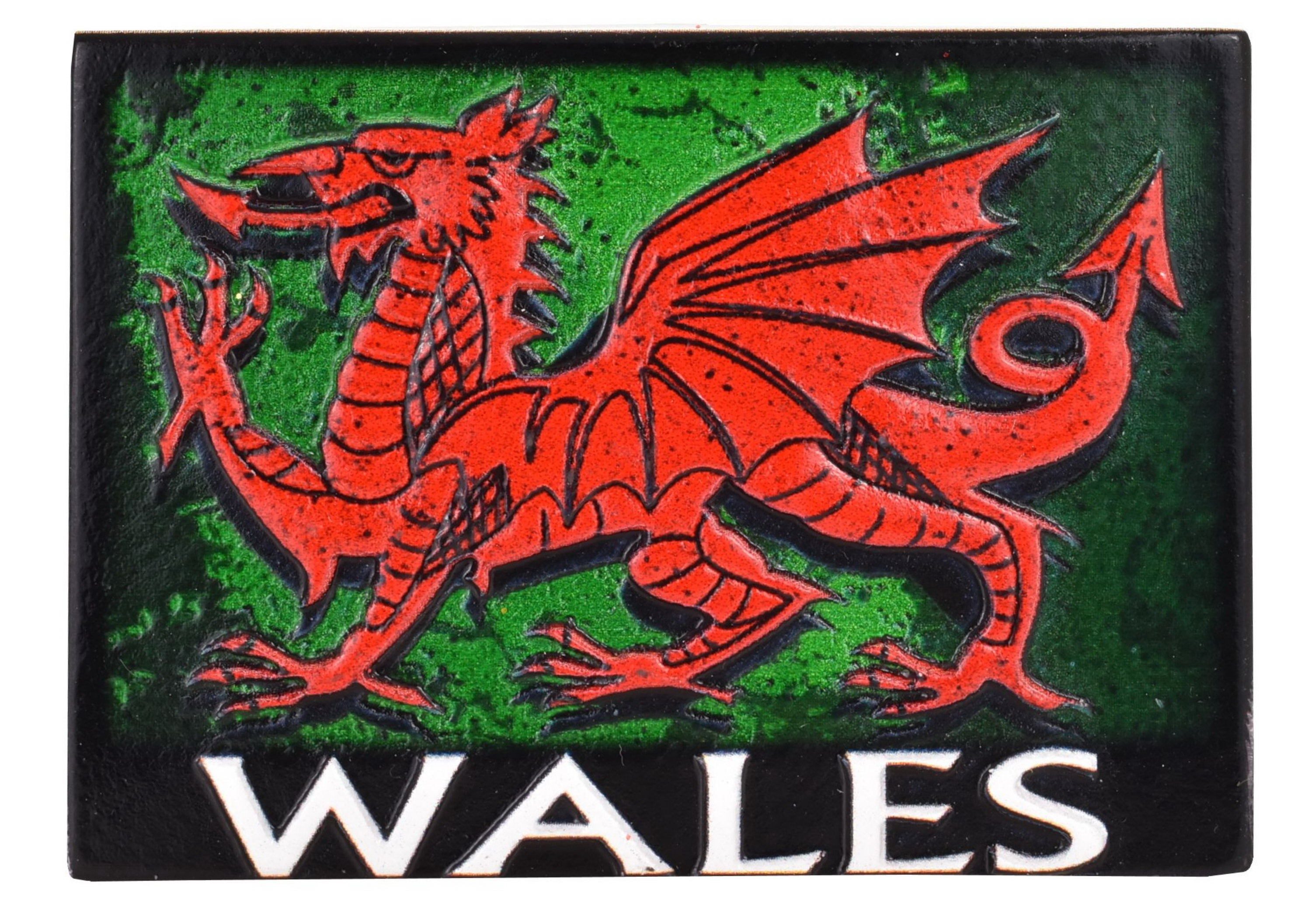 Wales Resin Magnet Dragon Design Printed