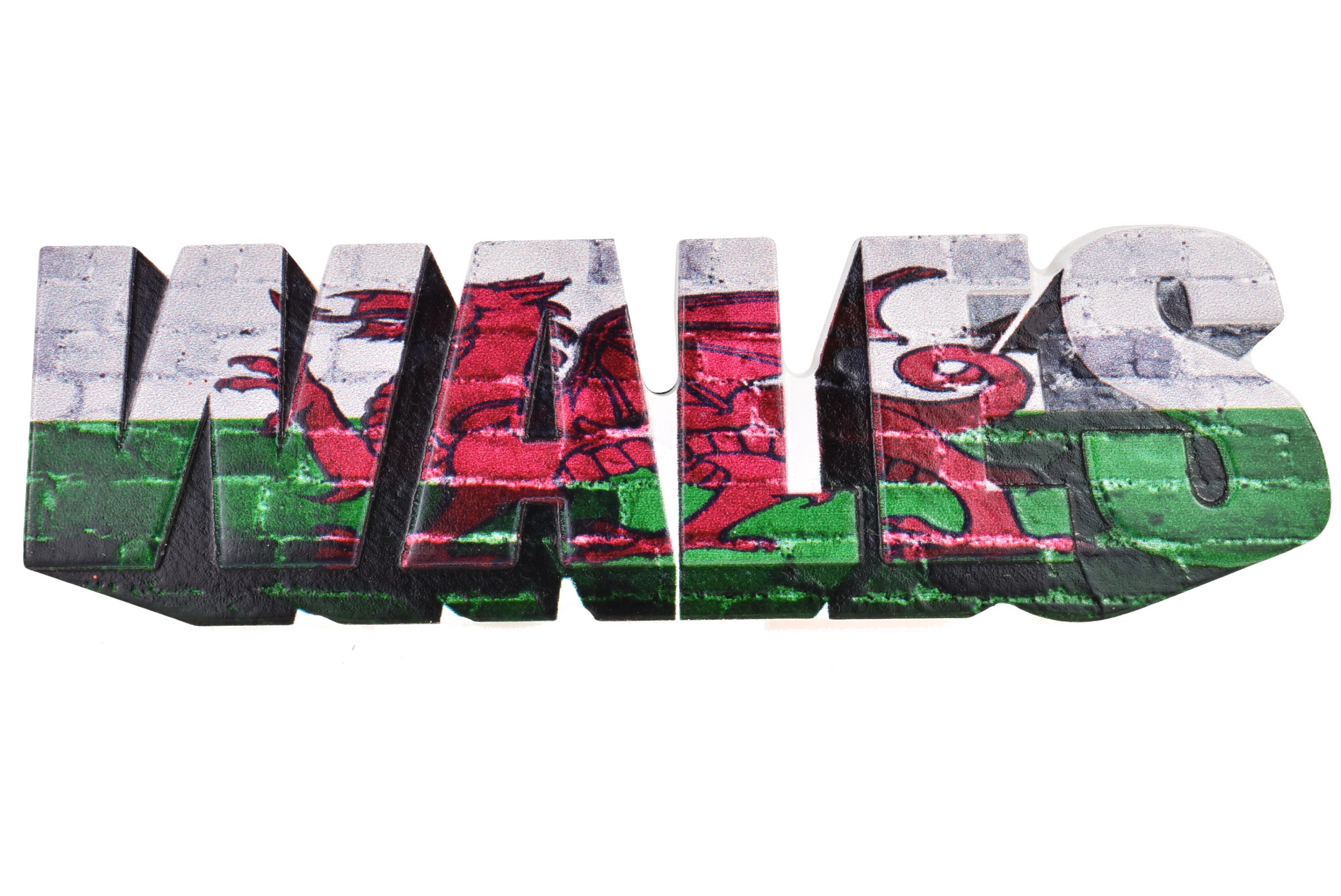 Wales Resin Magnet Letters Design Printed