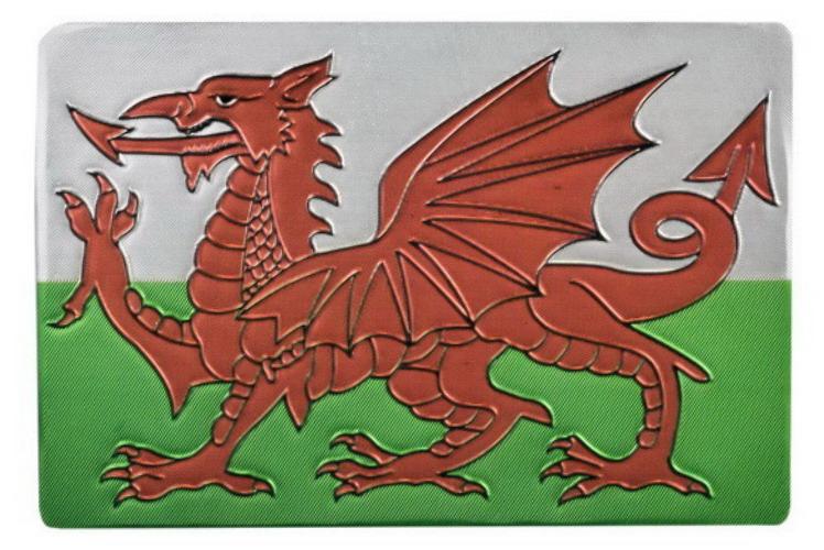 Foil Magnet Wales Flag