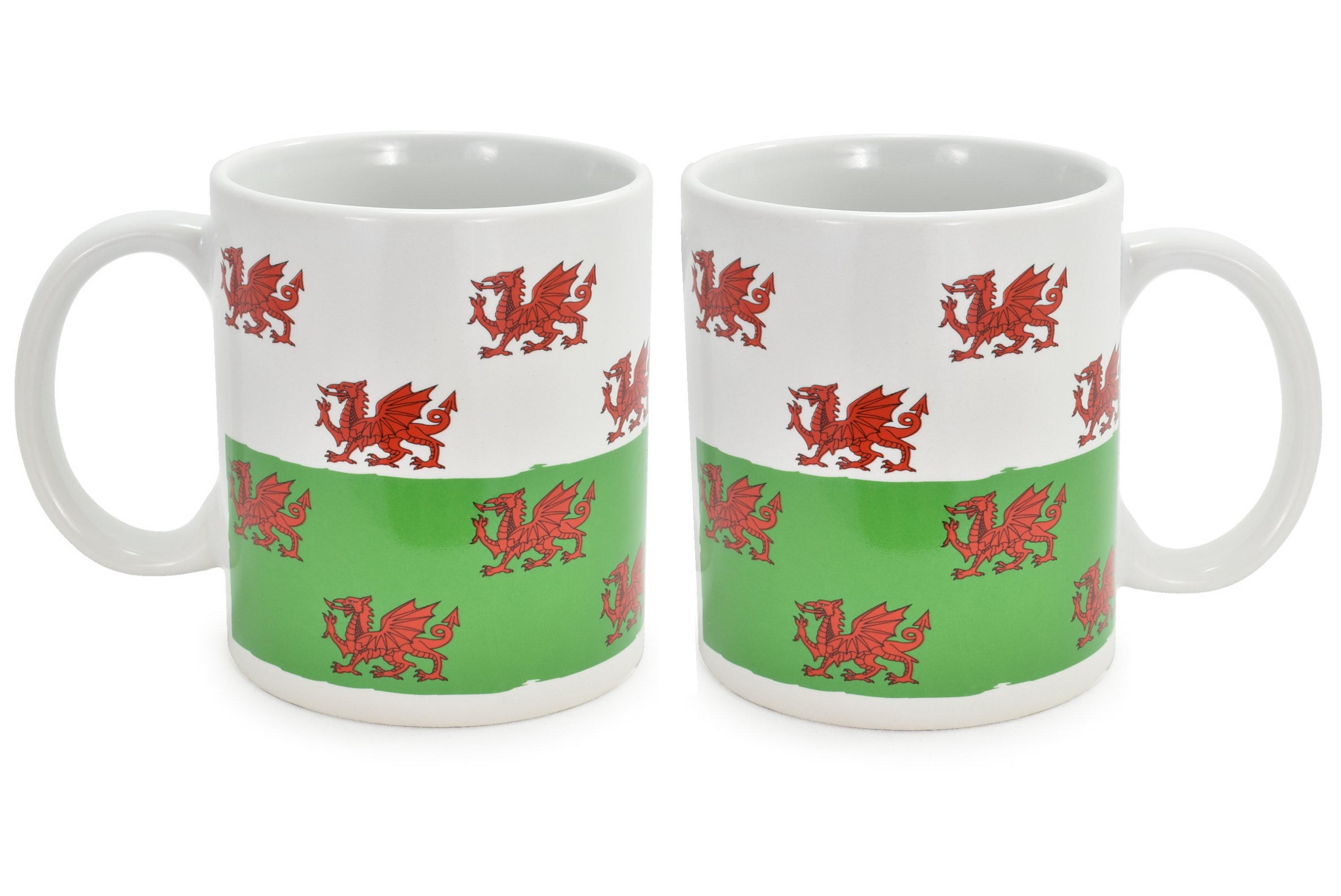 Ceramic Mug Wales Dragon Design