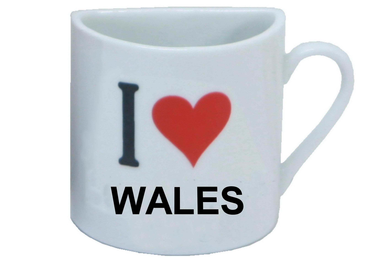 Wales Half Mug Magnet