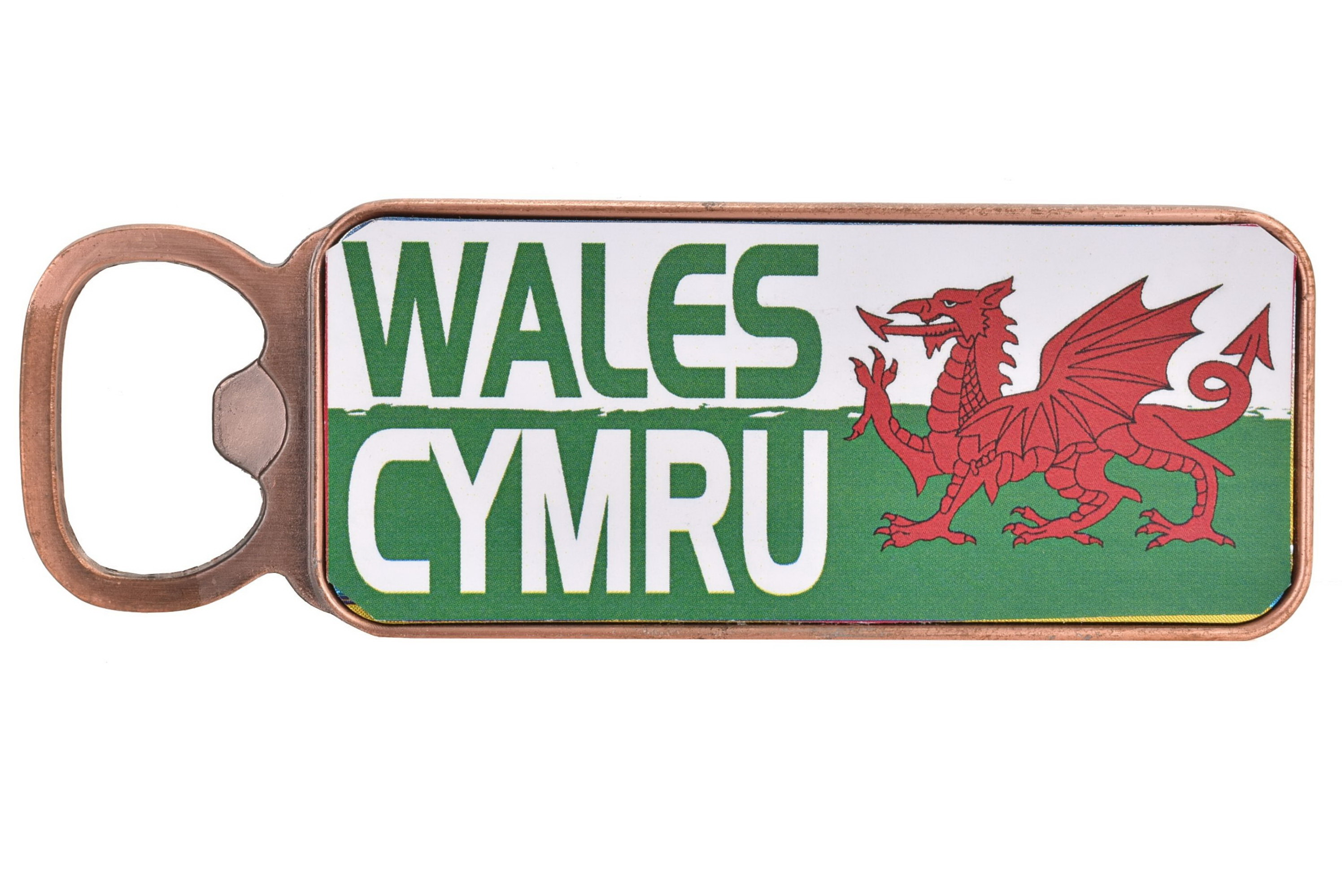 Wales Metal Magnet Bottle Opener