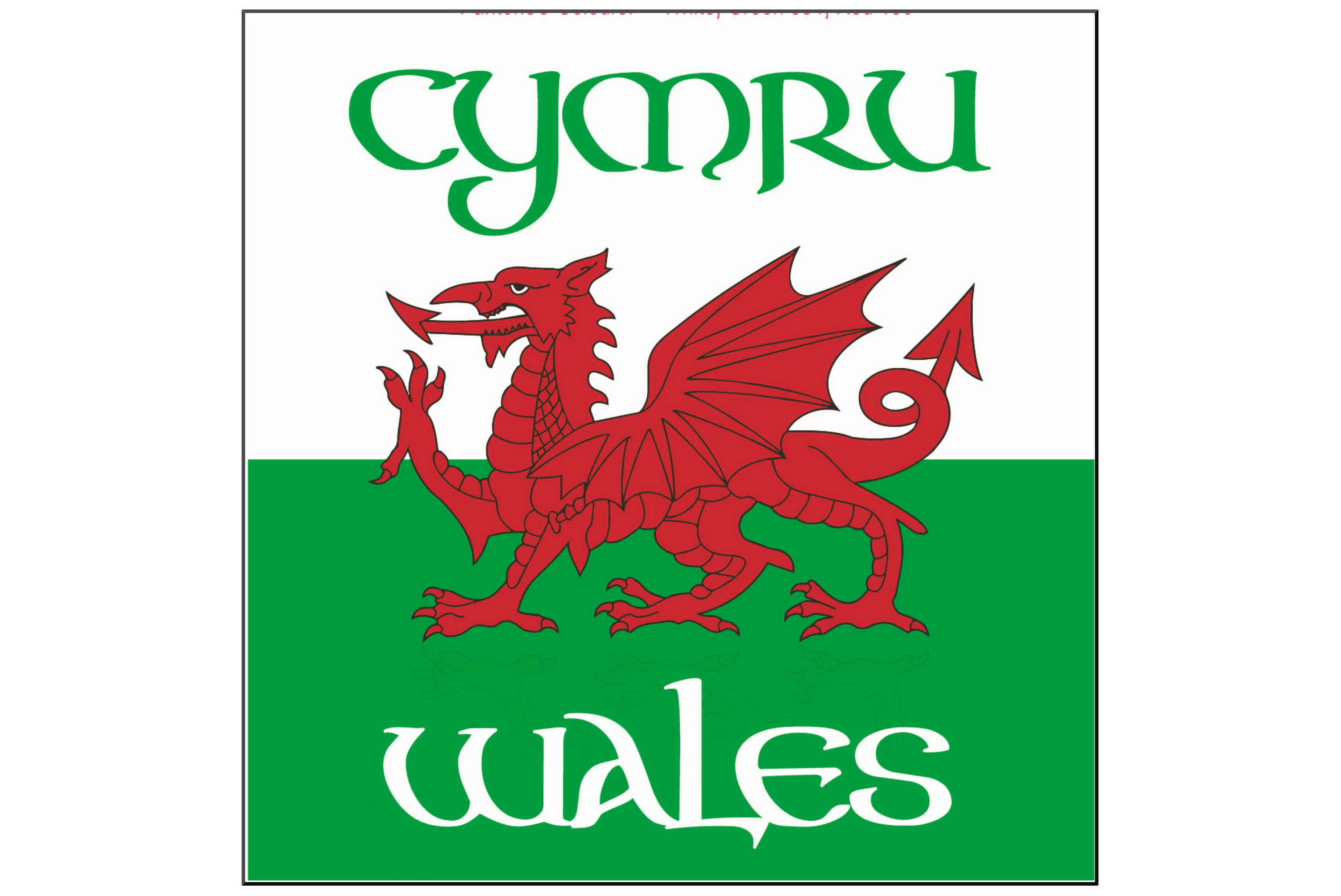 Wales Glass Coasters Flag Design Set Of 4