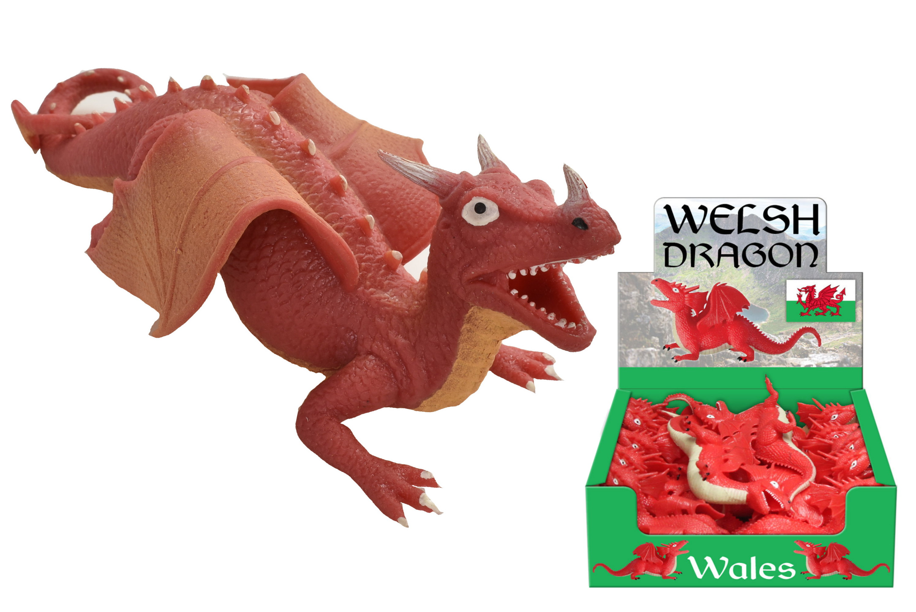"""Welsh"" Tpr Red Dragon In Display Box"