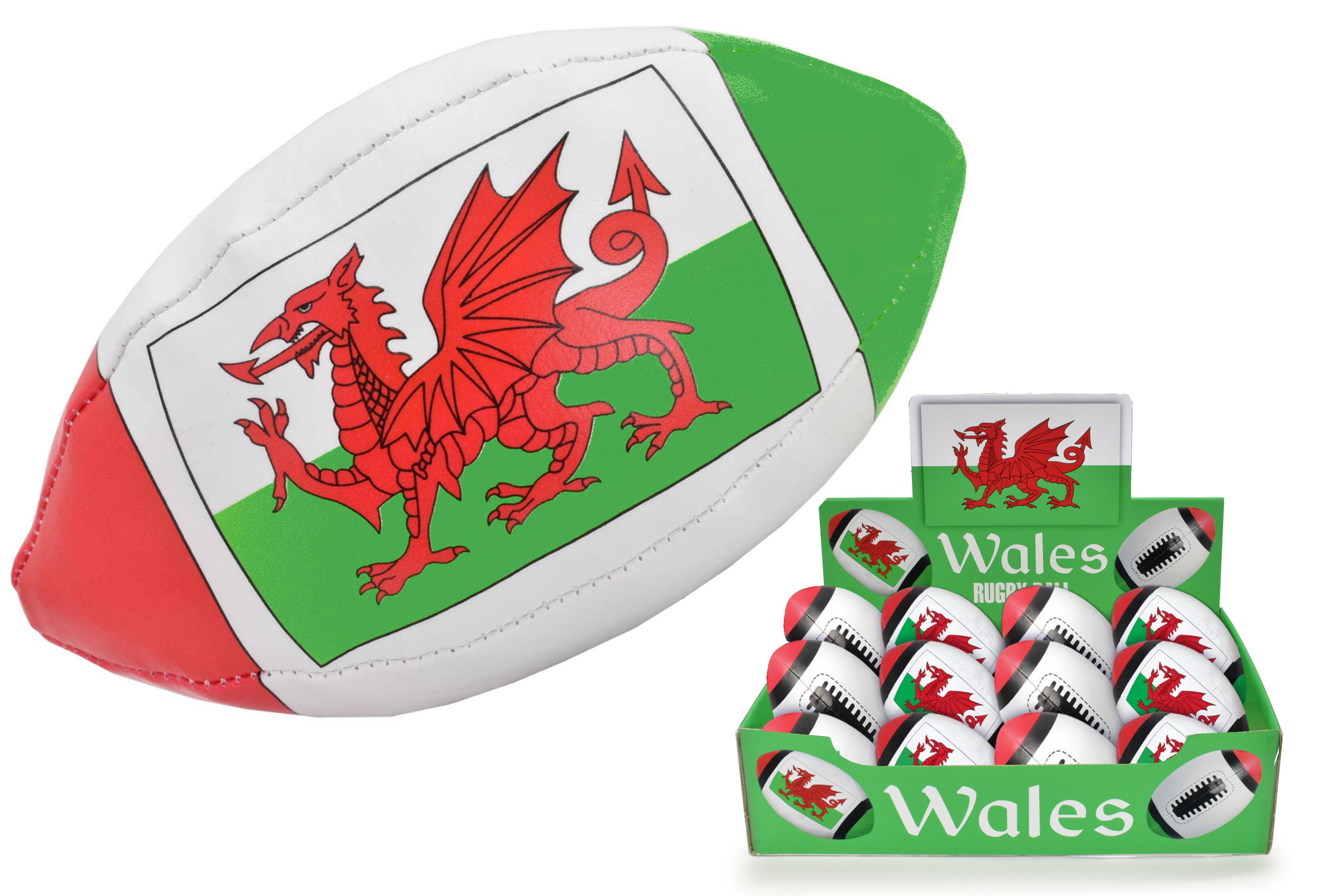 Mini Wales Flag Rugby Ball In Display Box