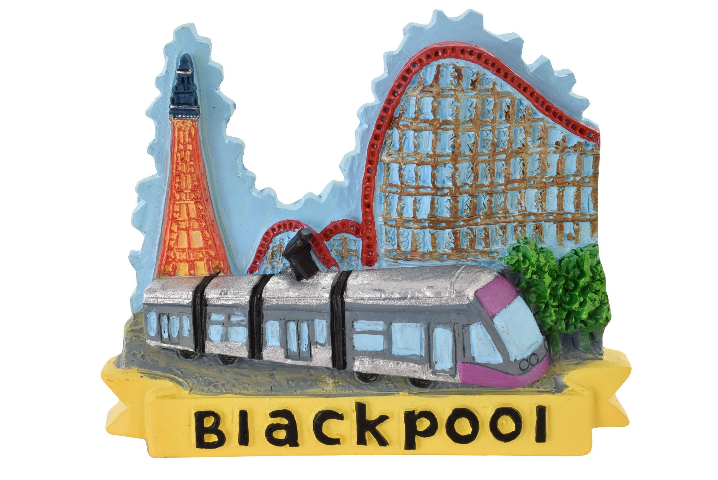 Blackpool Resin Magnet Tower/Coaster/Tram