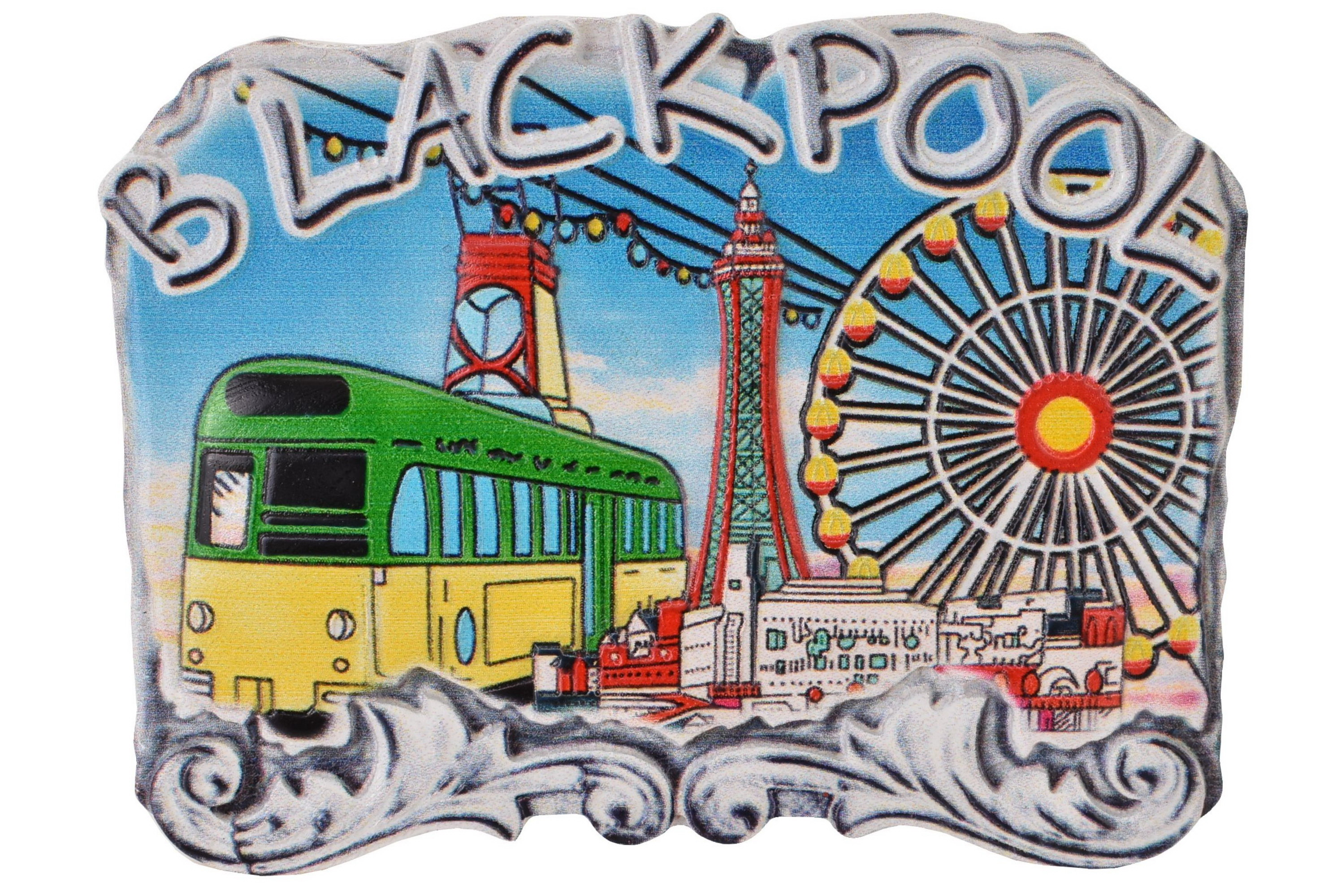 Resin Magnet Blackpool Composite Stone Design