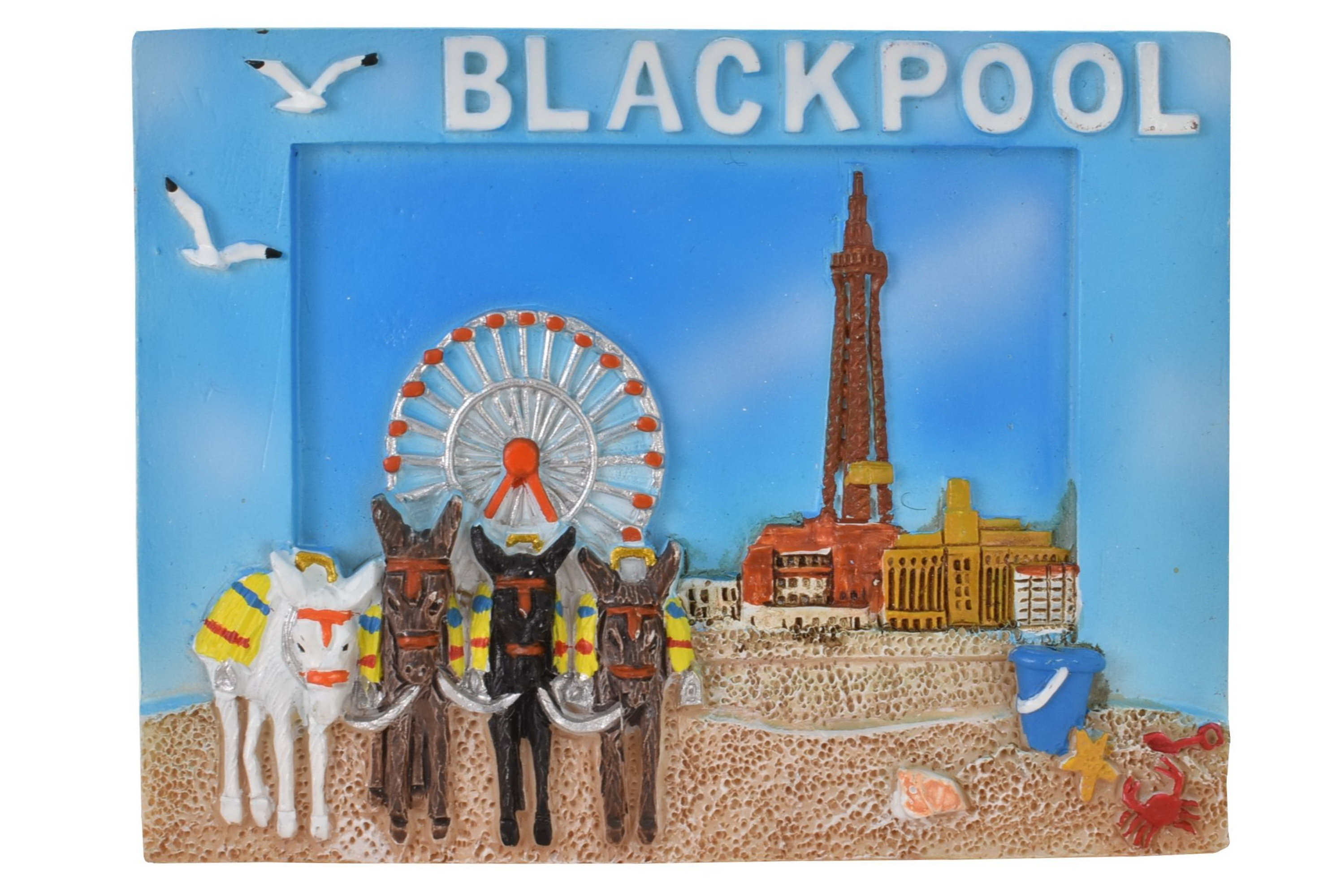 Resin Magnet Blackpool Picture Frame Style