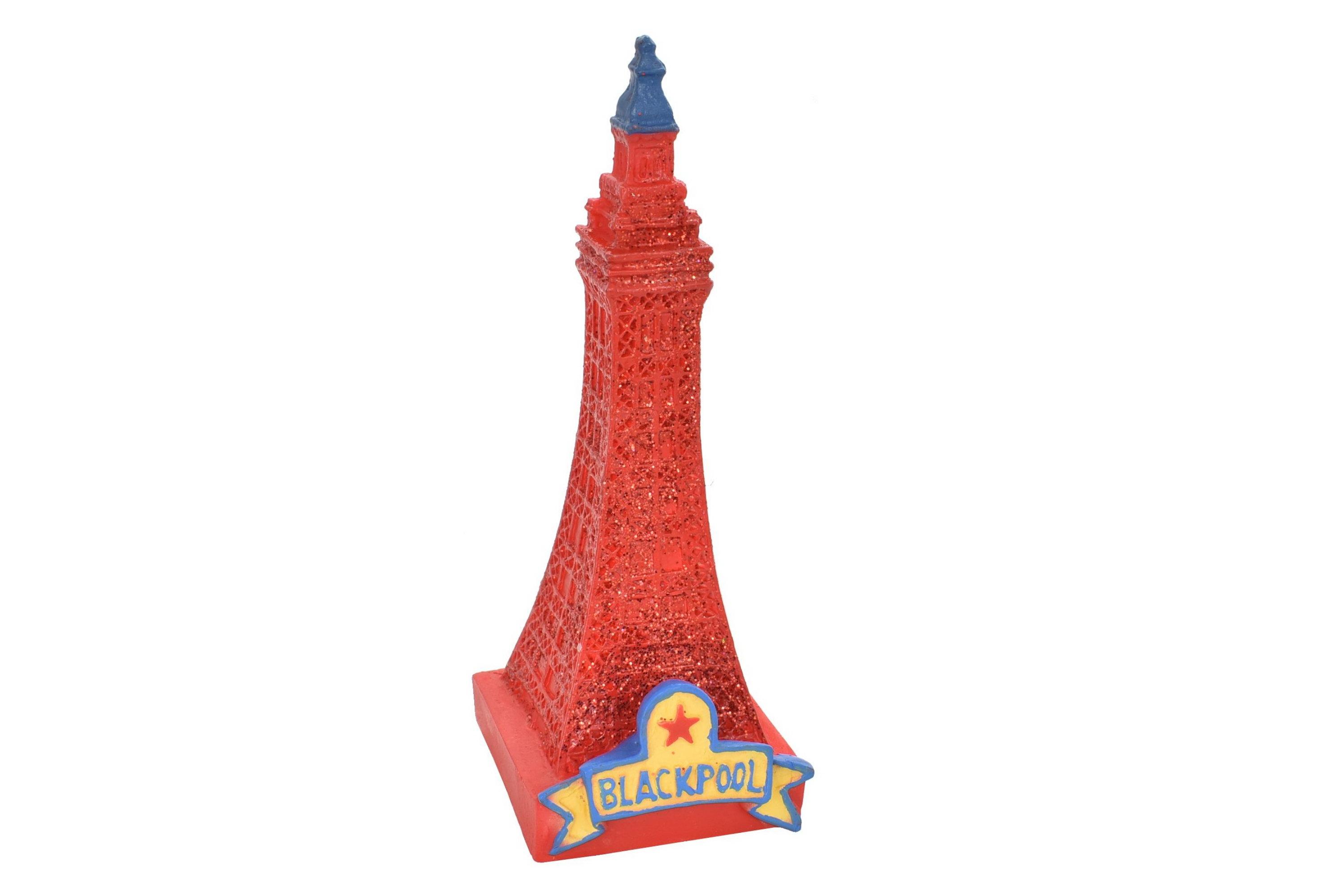 Resin Blackpool Tower Glitter Figurine 9cm